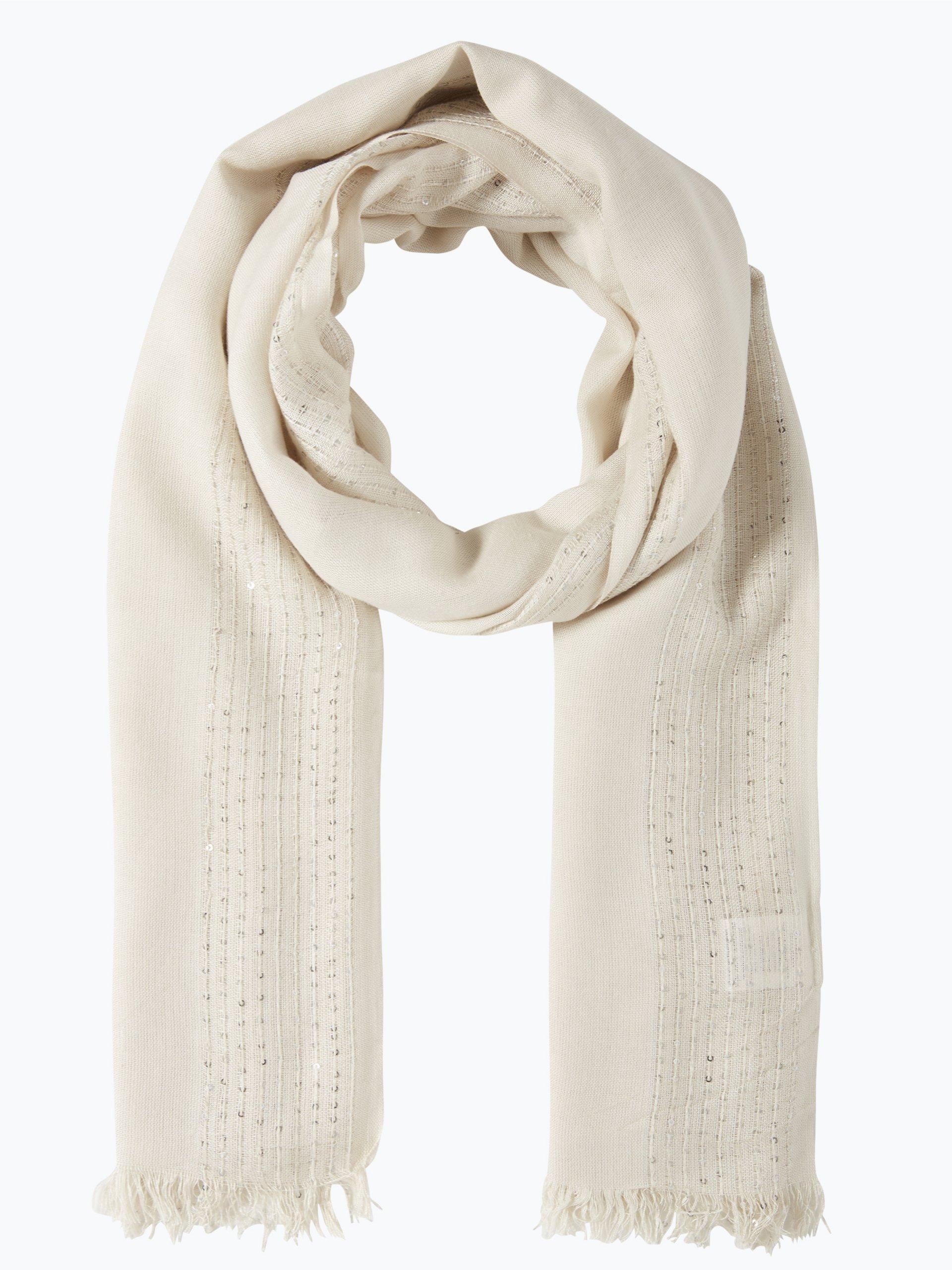 Marie lund damen schal ecru uni online kaufen peek und for Schal binden damen