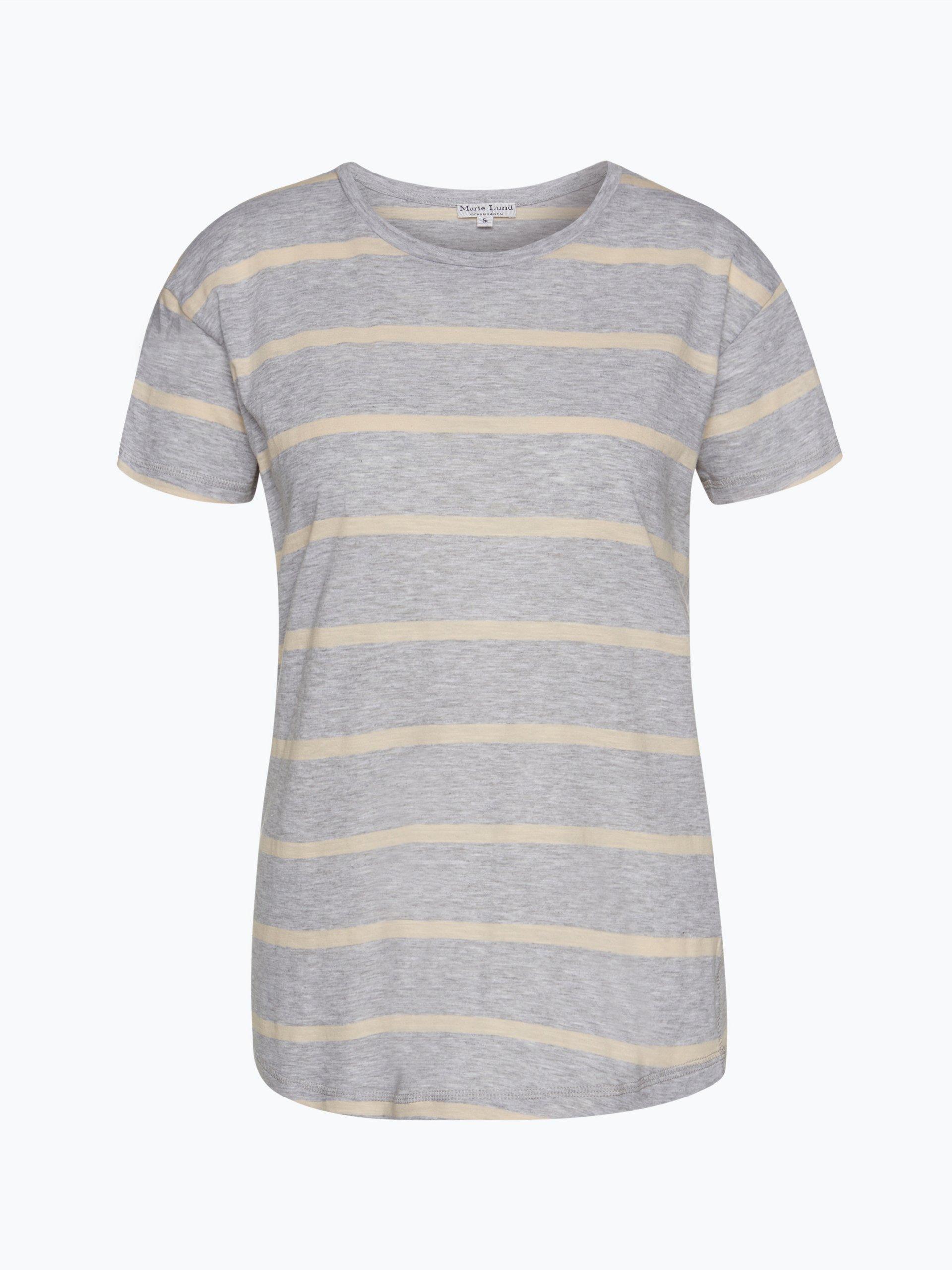 marie lund damen t shirt nude gestreift online kaufen vangraaf com. Black Bedroom Furniture Sets. Home Design Ideas
