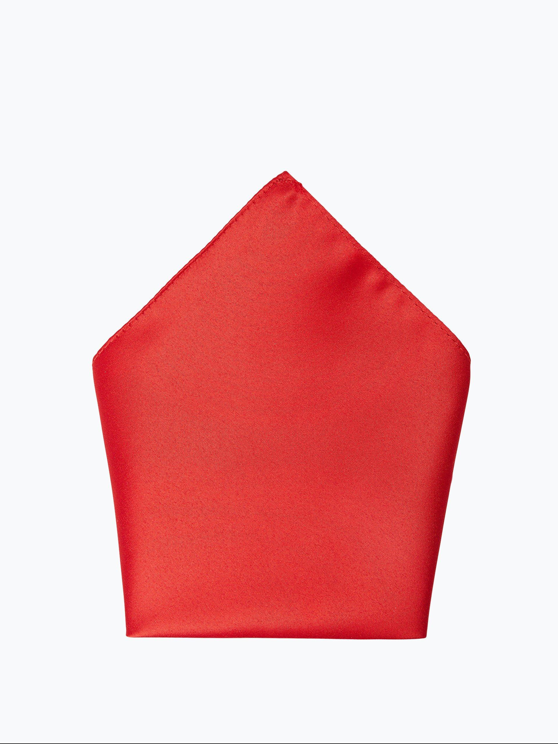 mc earl herren fliege und einstecktuch rot uni online. Black Bedroom Furniture Sets. Home Design Ideas