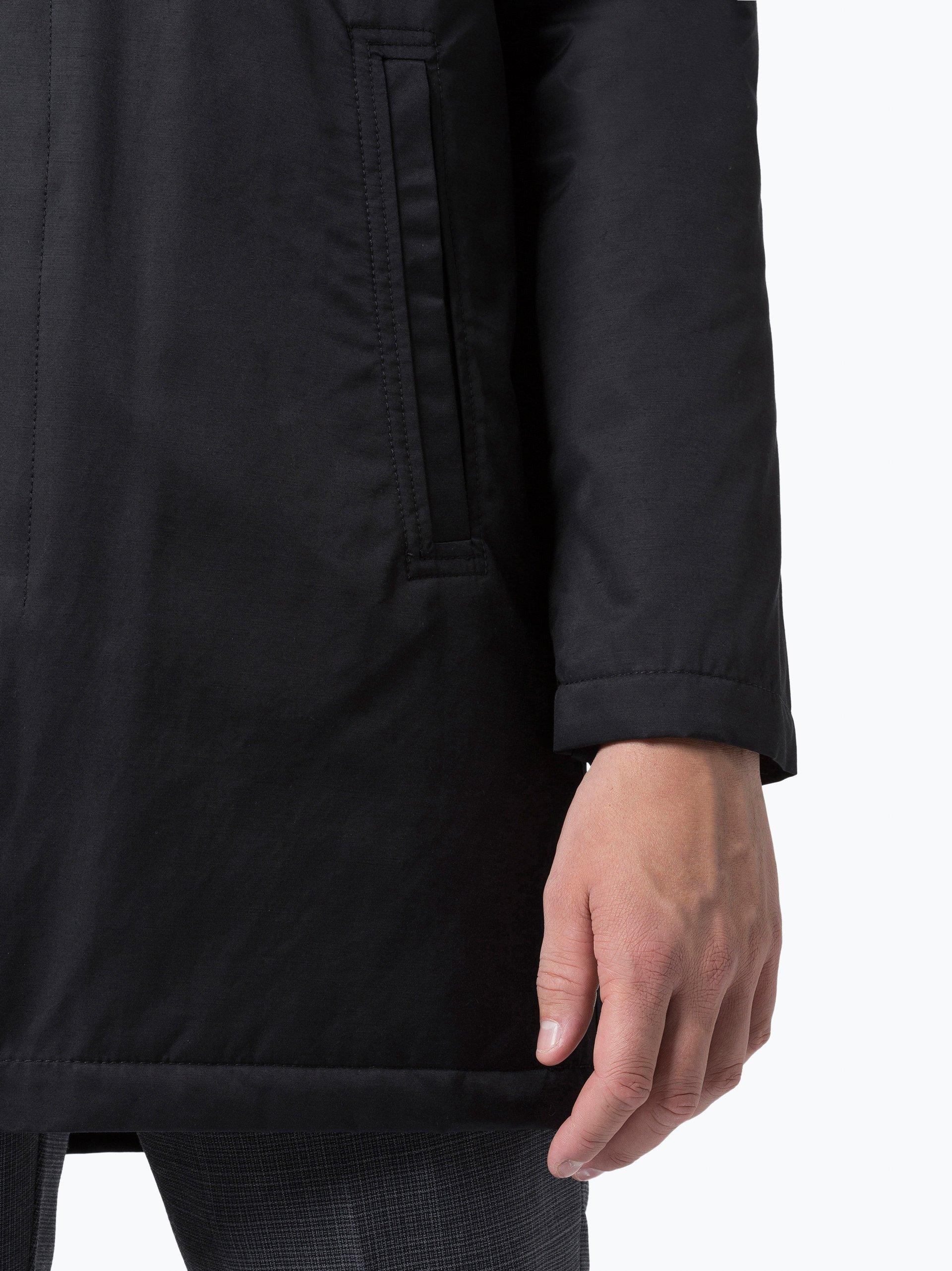 mc earl herren mantel schwarz uni online kaufen peek und. Black Bedroom Furniture Sets. Home Design Ideas