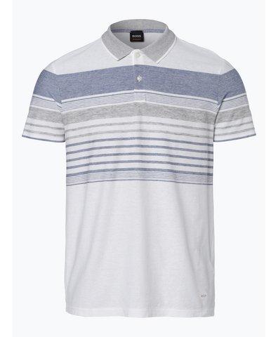Męska koszulka polo z dodatkiem lnu – Pilak