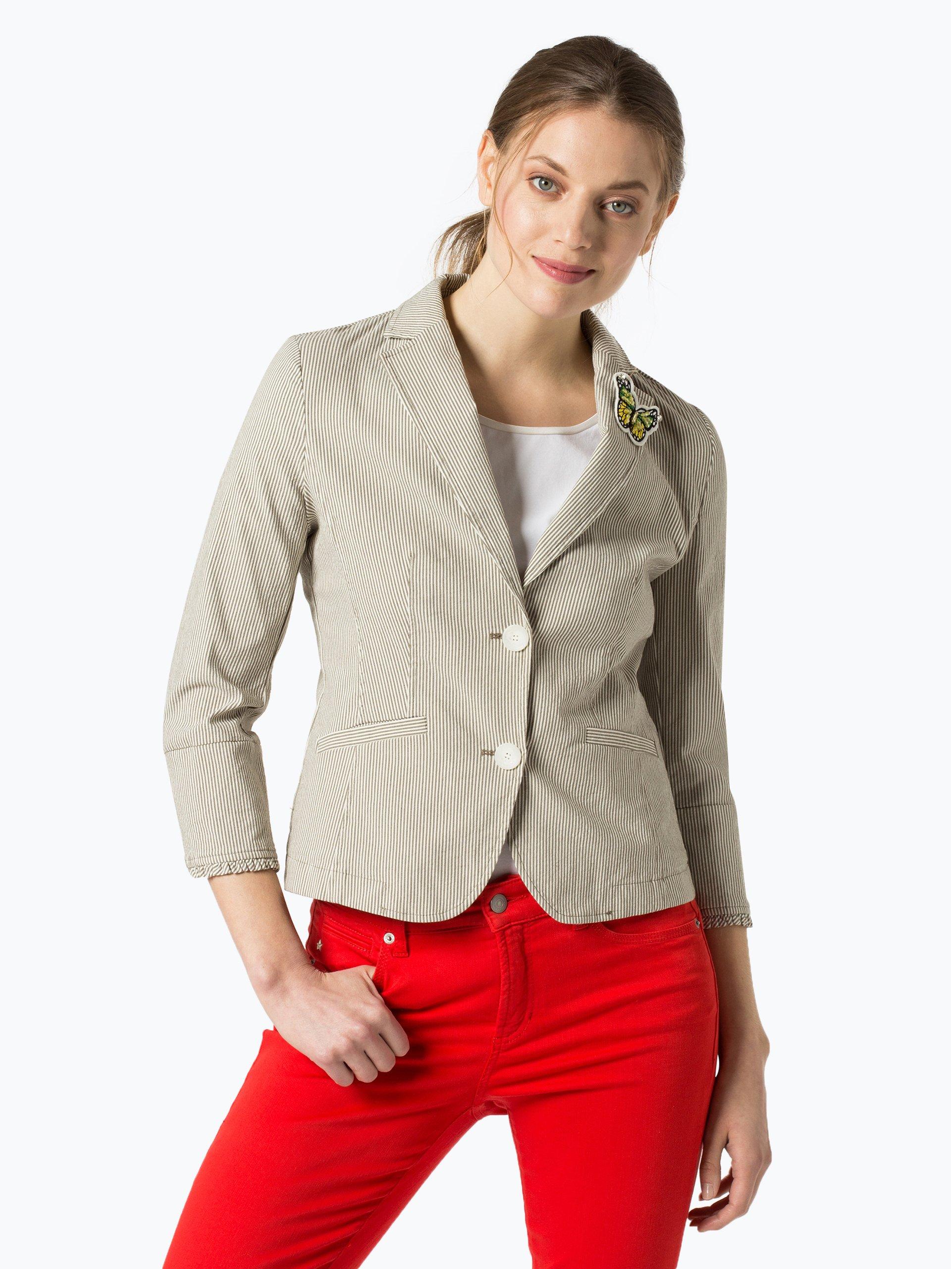 more more damen blazer khaki gestreift online kaufen peek und cloppenburg de. Black Bedroom Furniture Sets. Home Design Ideas