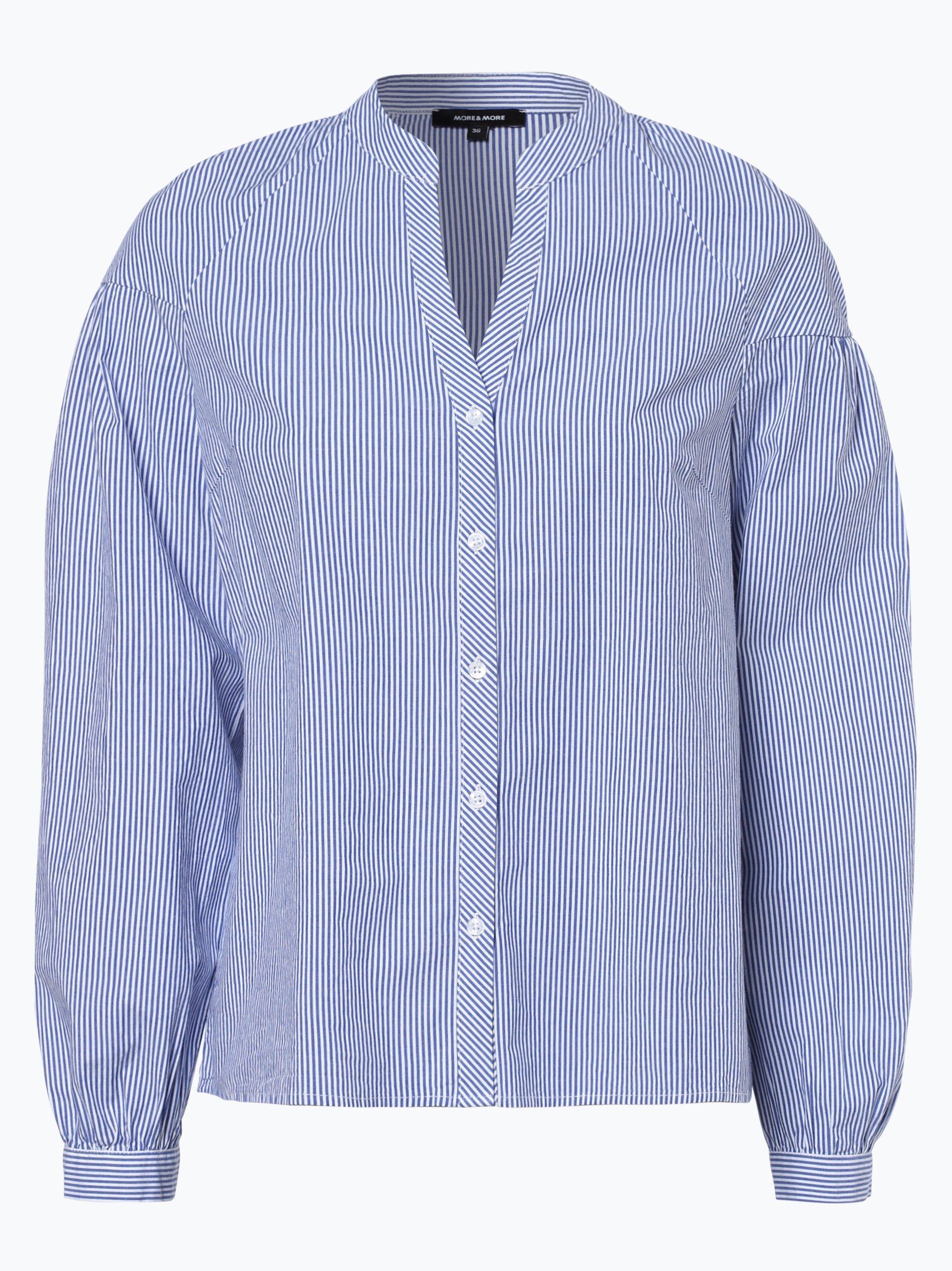 more more damen bluse hellblau gestreift online kaufen vangraaf com. Black Bedroom Furniture Sets. Home Design Ideas
