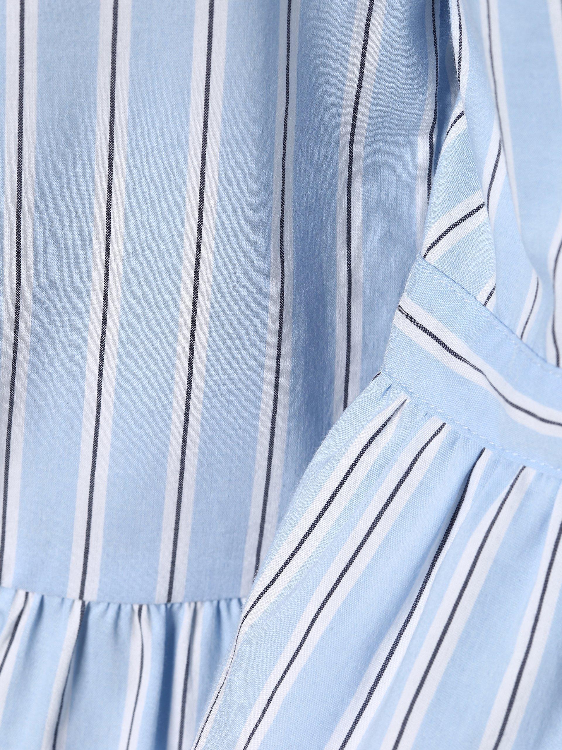 more more damen bluse hellblau gestreift online kaufen peek und cloppenburg de. Black Bedroom Furniture Sets. Home Design Ideas