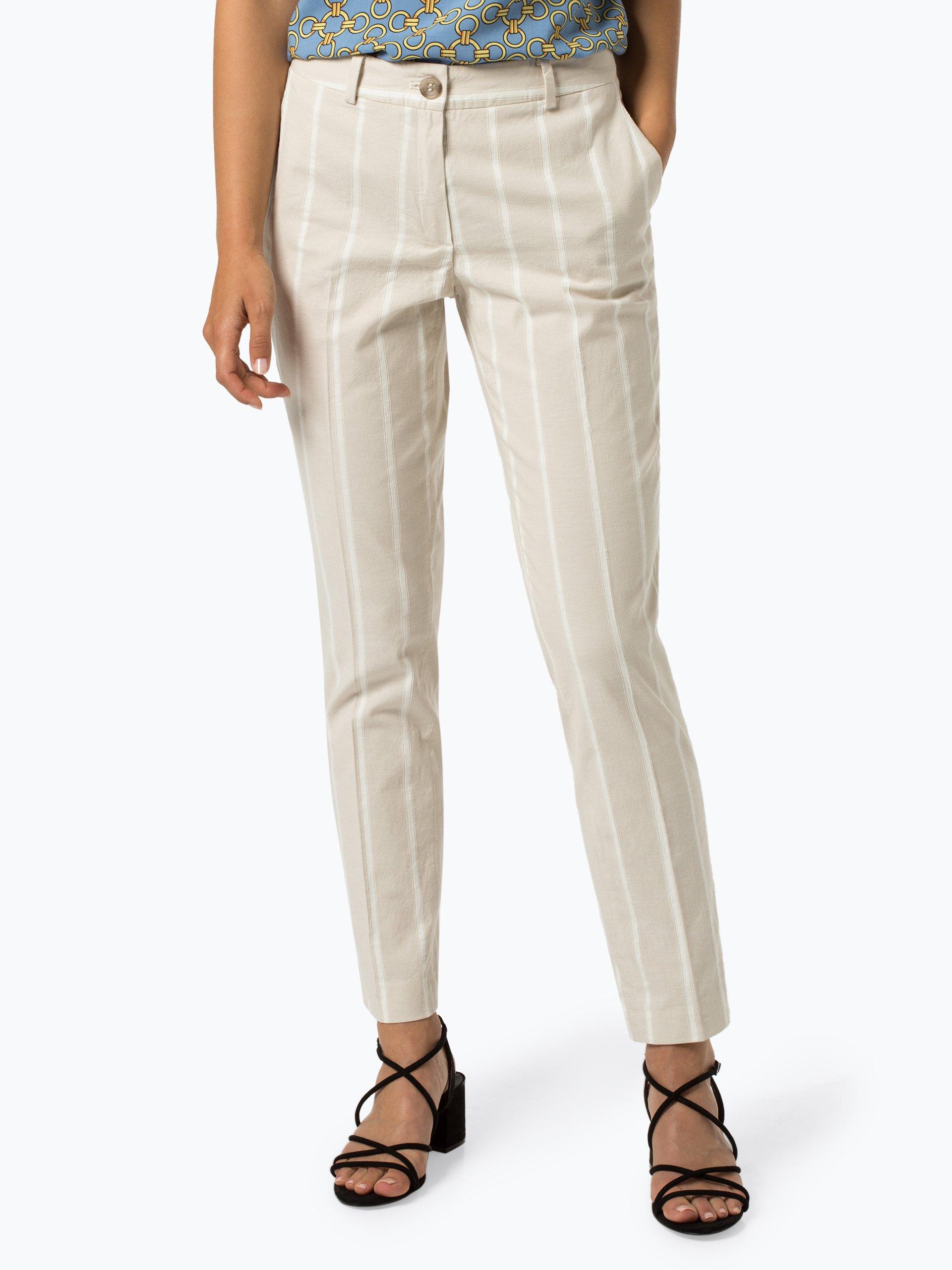 More & More Spodnie damskie z dodatkiem lnu