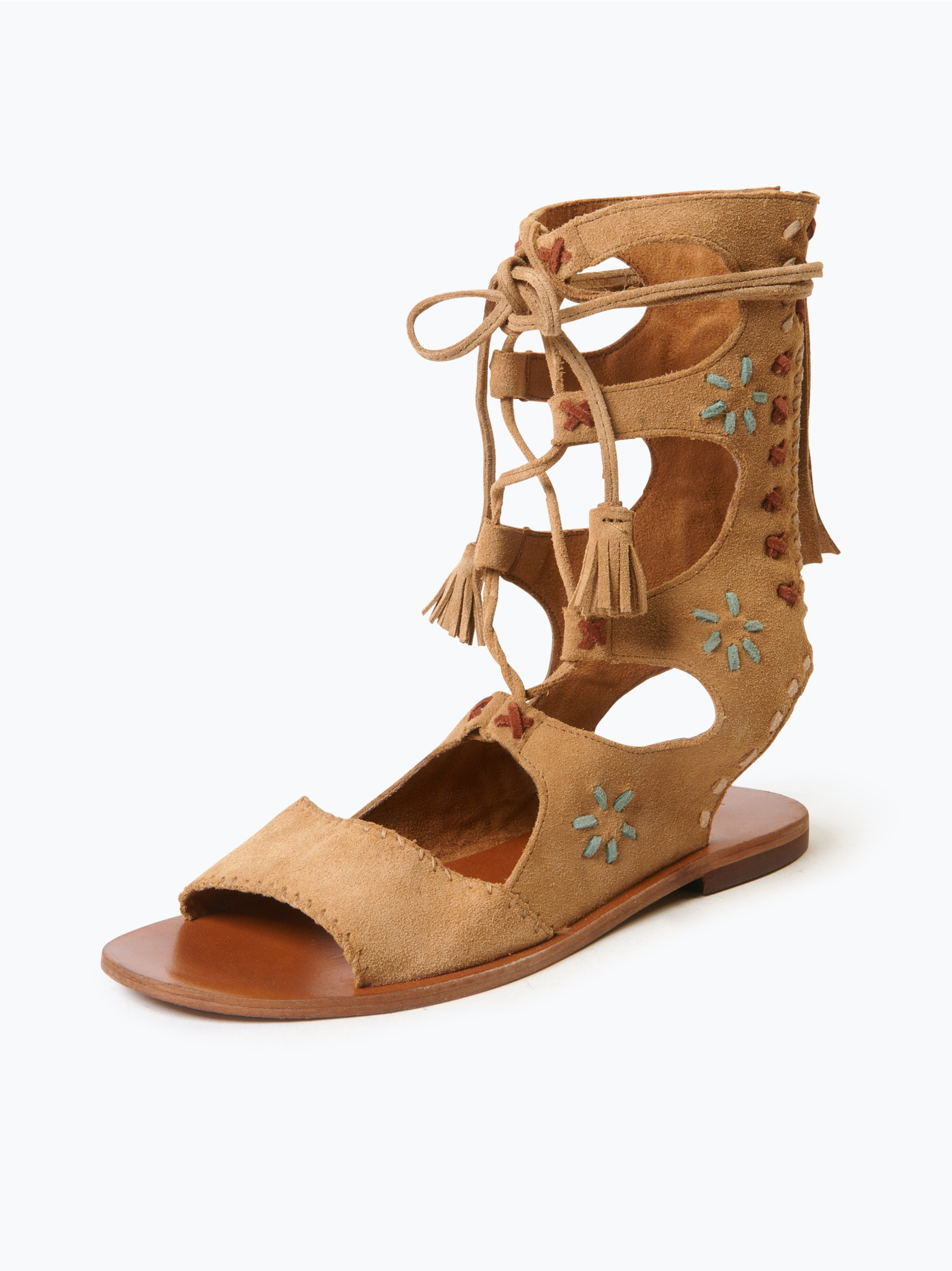 musse cloud damen sandalen aus veloursleder hanne 2 online kaufen peek und cloppenburg de. Black Bedroom Furniture Sets. Home Design Ideas