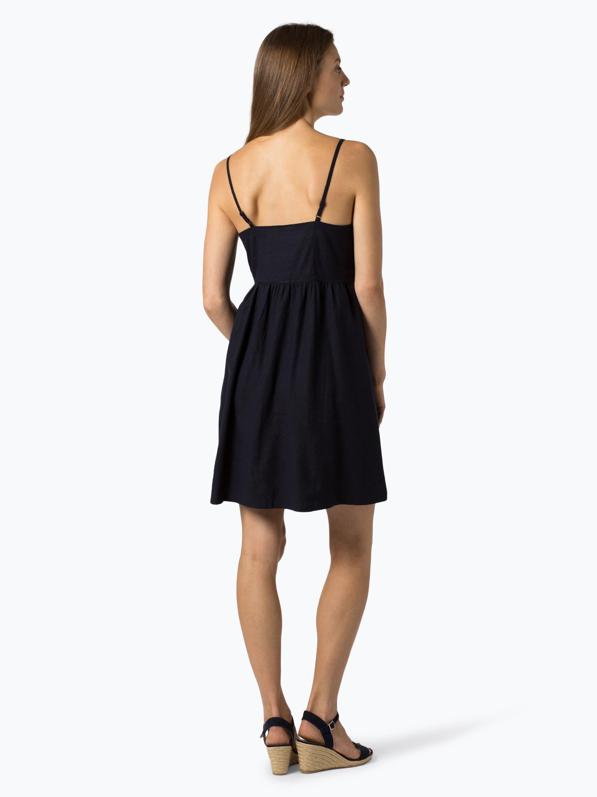 NA-KD Damen Kleid mit Leinen-Anteil