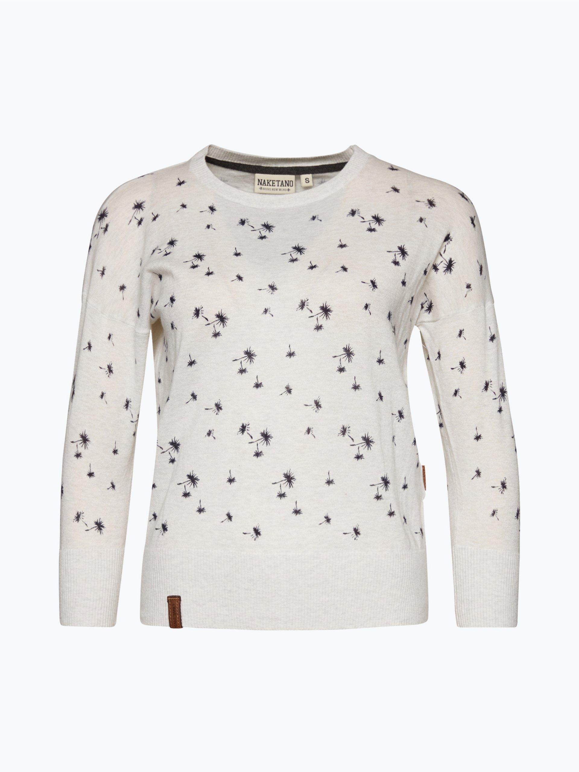 naketano damen pullover maja pusteblume ii grau gemustert online kaufen vangraaf com. Black Bedroom Furniture Sets. Home Design Ideas
