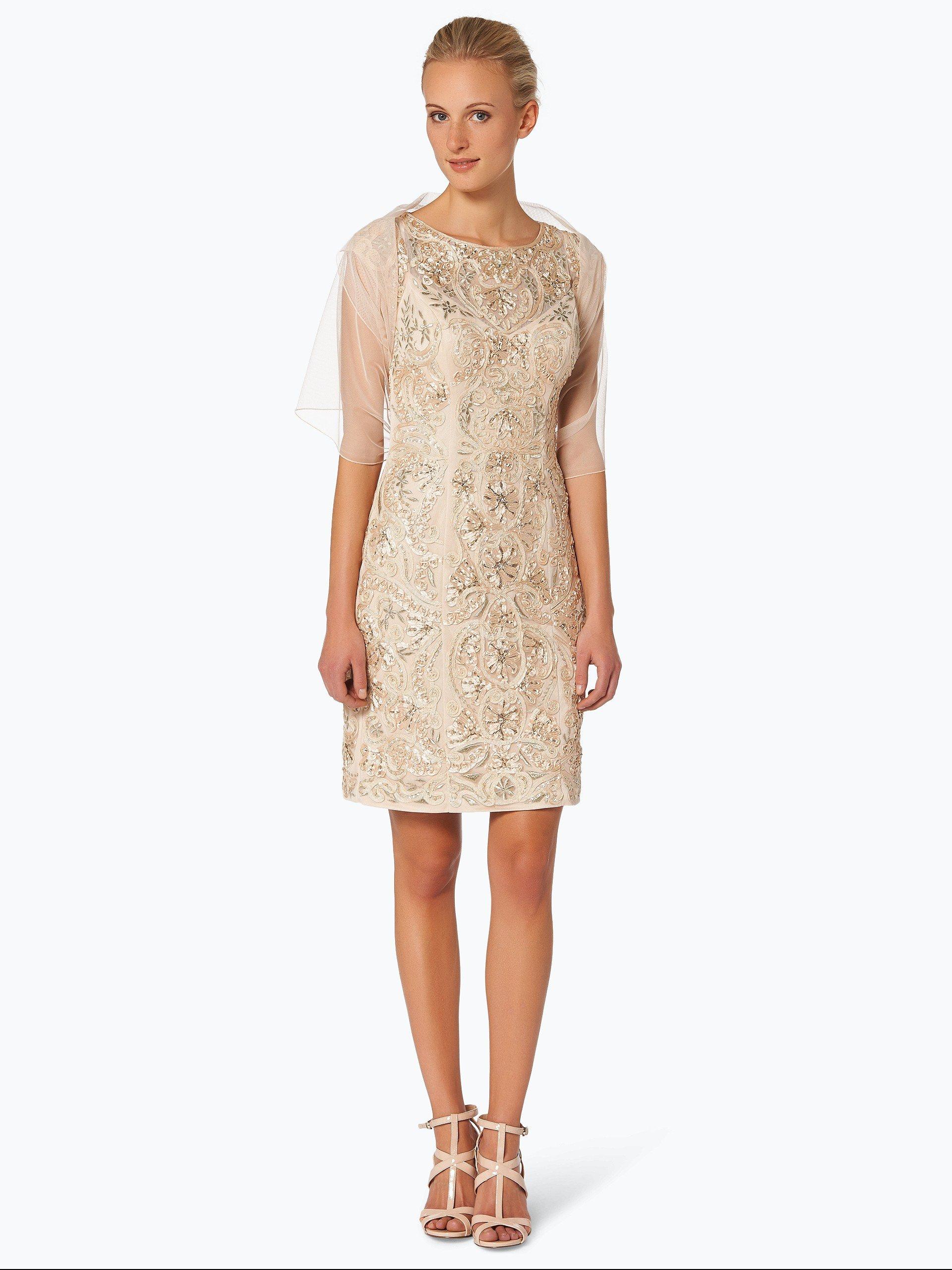 Niente Damen Abendkleid mit Stola beige uni online kaufen   VANGRAAF.COM