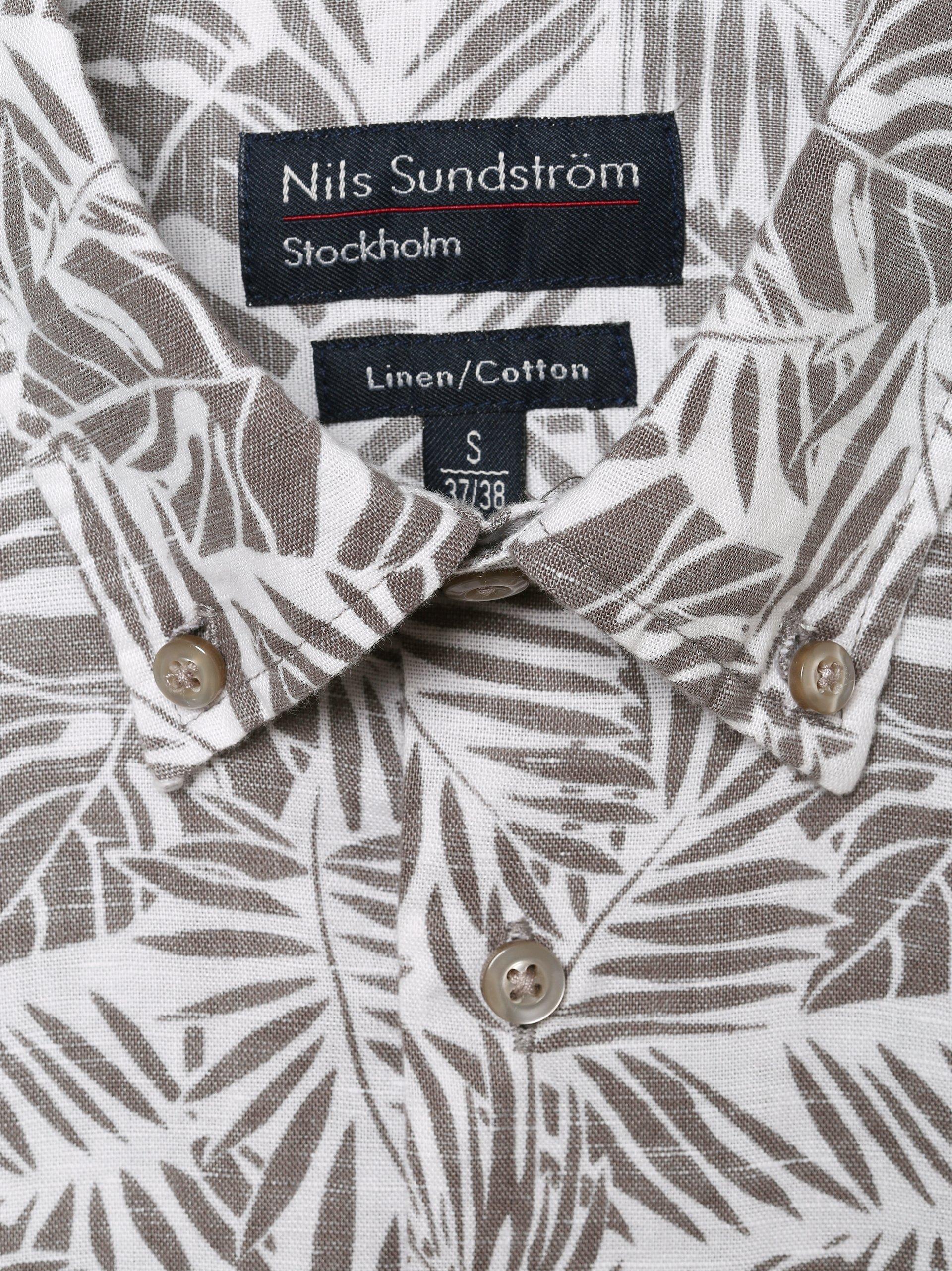 Nils Sundström Herren Hemd mit Leinen-Anteil