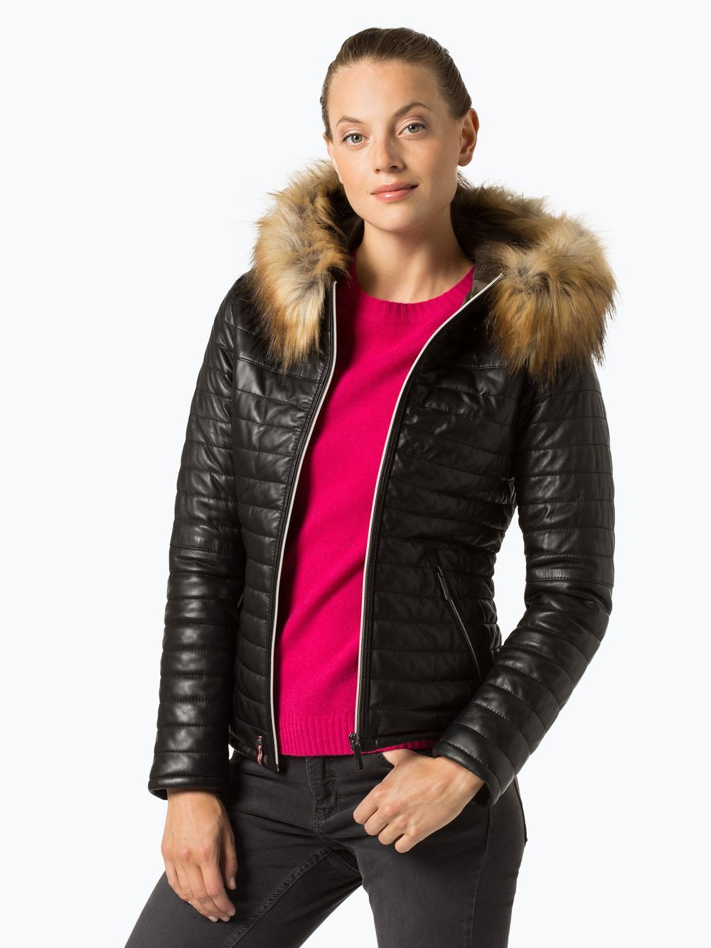 Oakwood Damen Funktionsjacke aus Leder - Fury-0