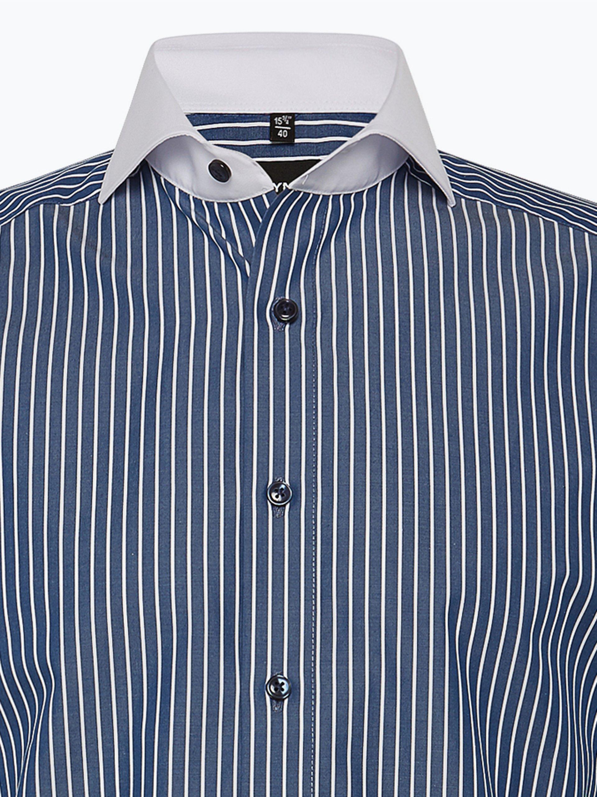olymp modern fit herren hemd marine blau gestreift online. Black Bedroom Furniture Sets. Home Design Ideas