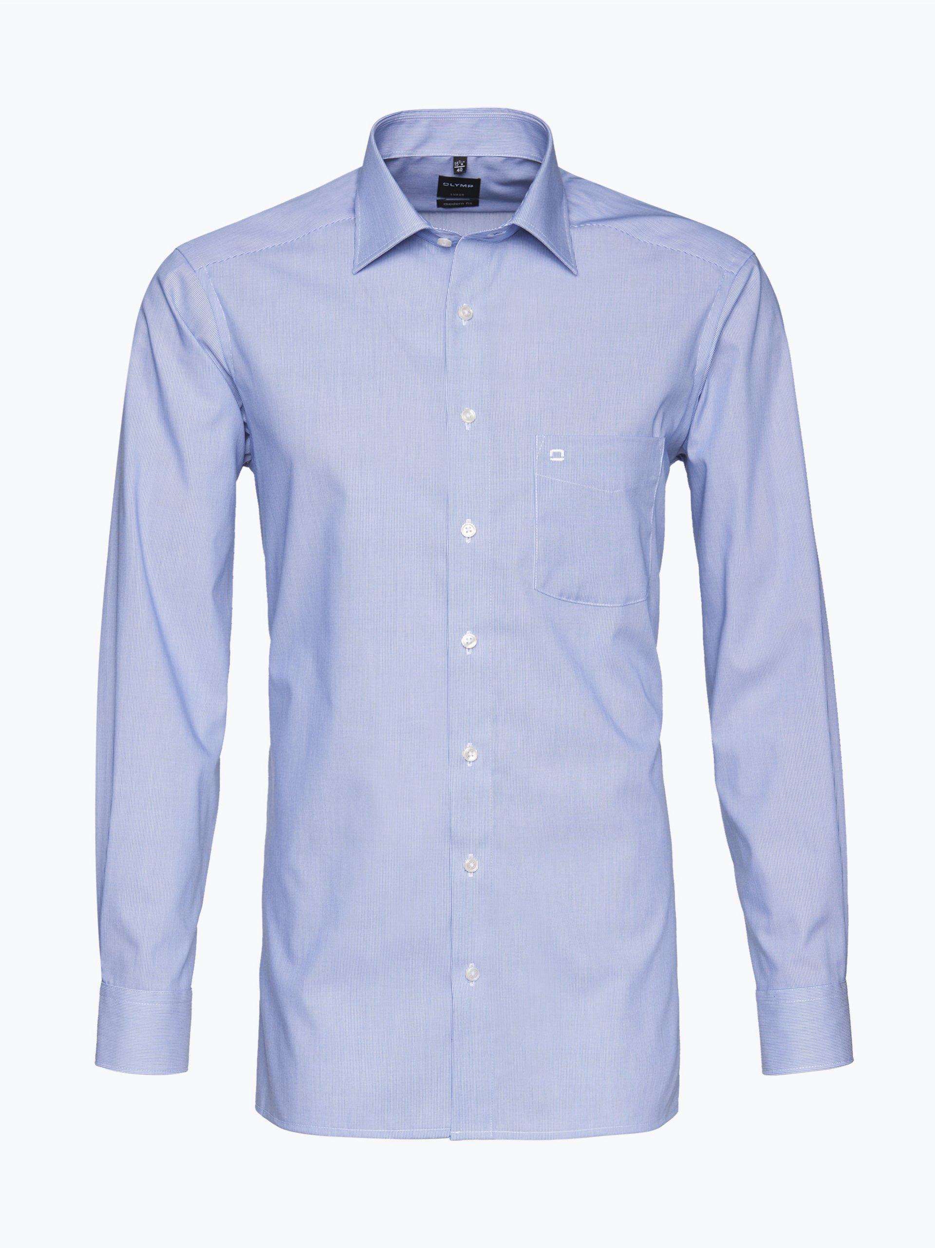 olymp modern fit olymp luxor hemd modern fit indigo. Black Bedroom Furniture Sets. Home Design Ideas