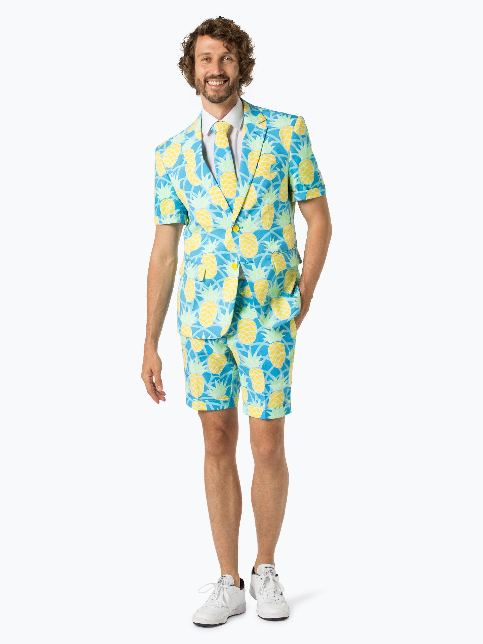 OppoSuits Herren Anzug mit Krawatte - Shineapple