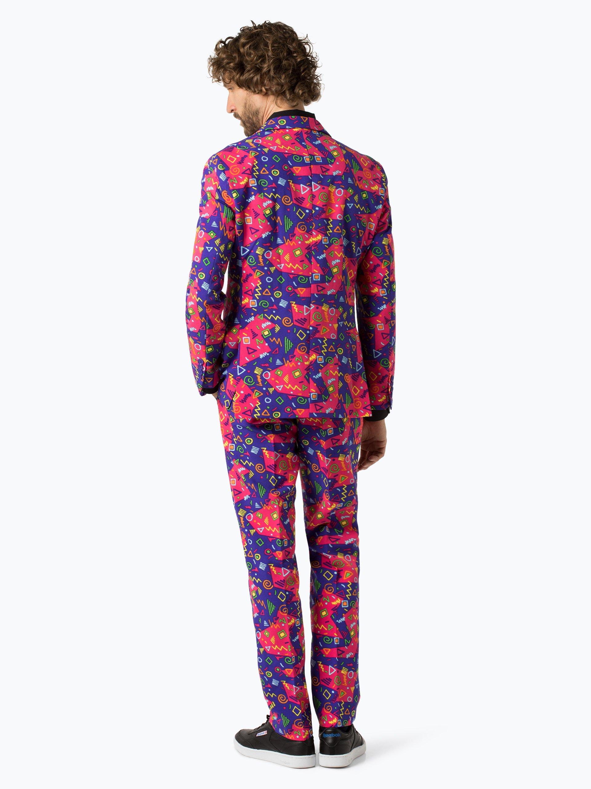 opposuits herren anzug mit krawatte pink gemustert online. Black Bedroom Furniture Sets. Home Design Ideas