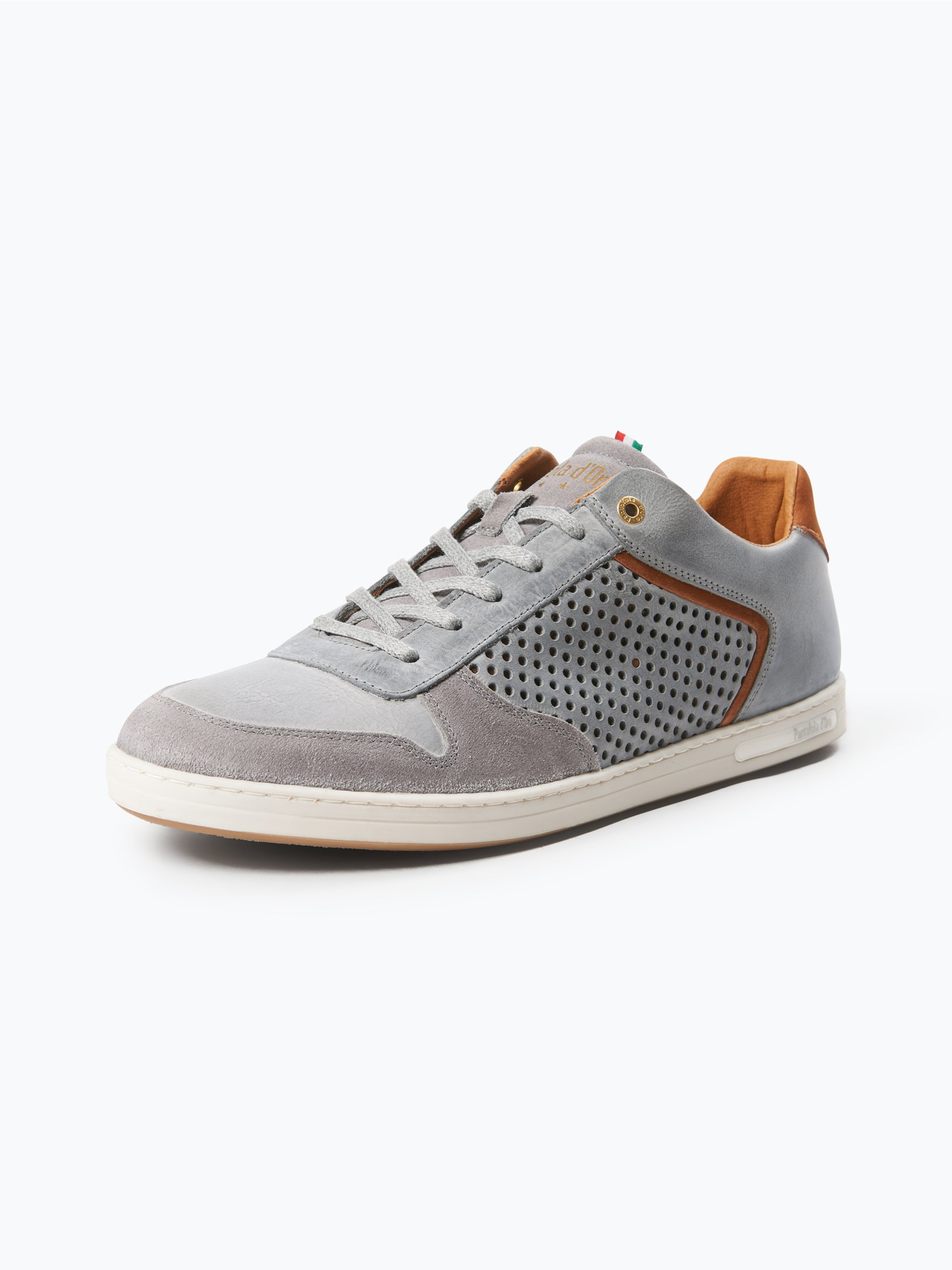 pantofola d oro herren sneaker aus leder auronzo grau. Black Bedroom Furniture Sets. Home Design Ideas