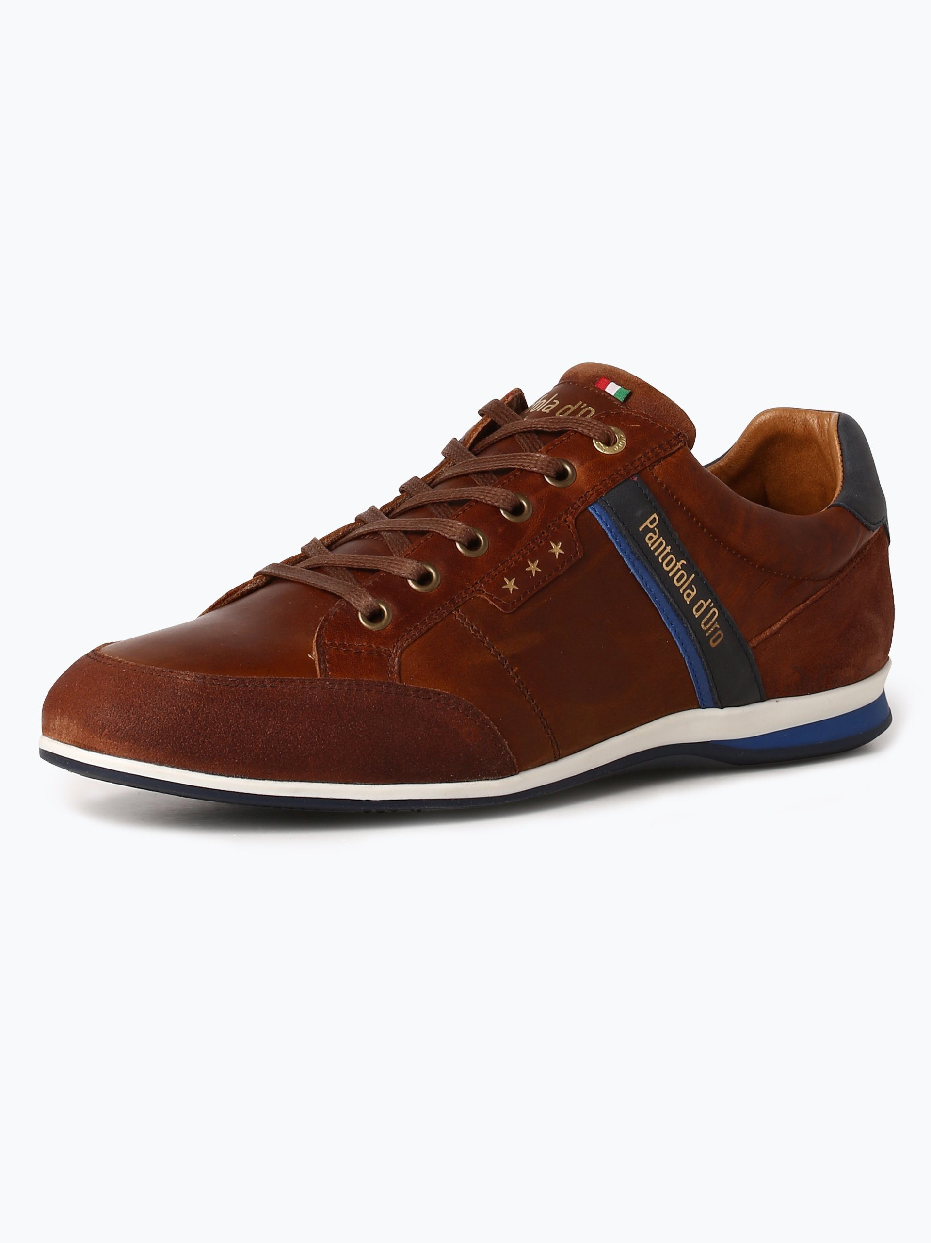 pantofola d oro herren sneaker aus leder roma cognac uni. Black Bedroom Furniture Sets. Home Design Ideas