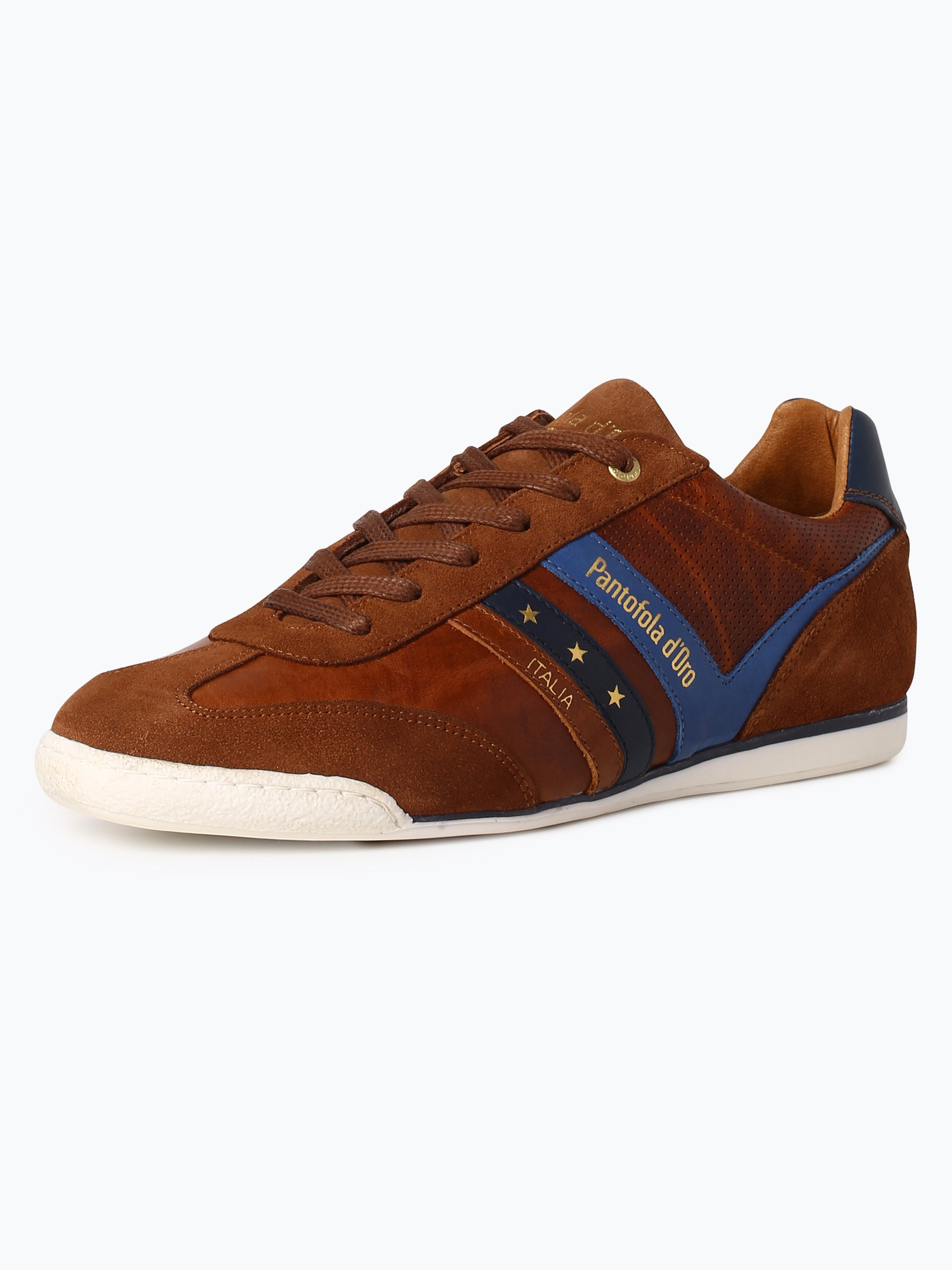 pantofola d oro herren sneaker aus leder vasto cognac. Black Bedroom Furniture Sets. Home Design Ideas