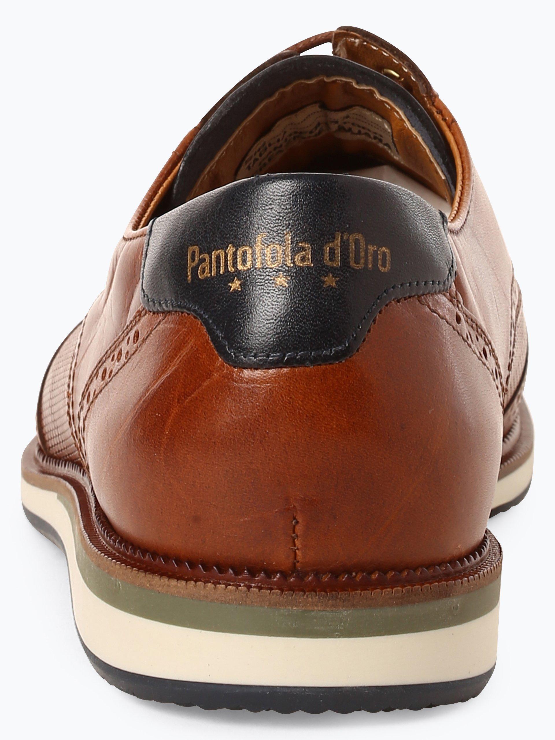 Pantofola d`Oro Męskie buty sznurowane ze skóry – Rubicon Uomo Low