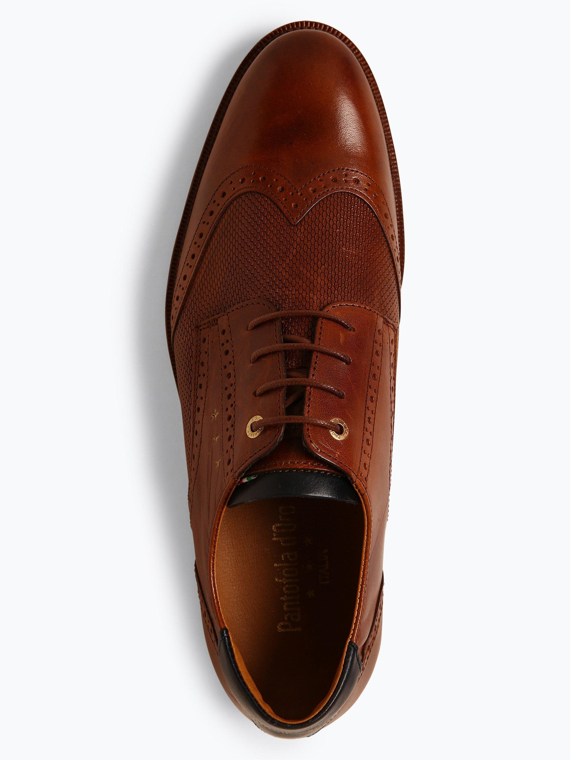 Pantofola d\'Oro Męskie buty sznurowane ze skóry – Rubicon Uomo Low