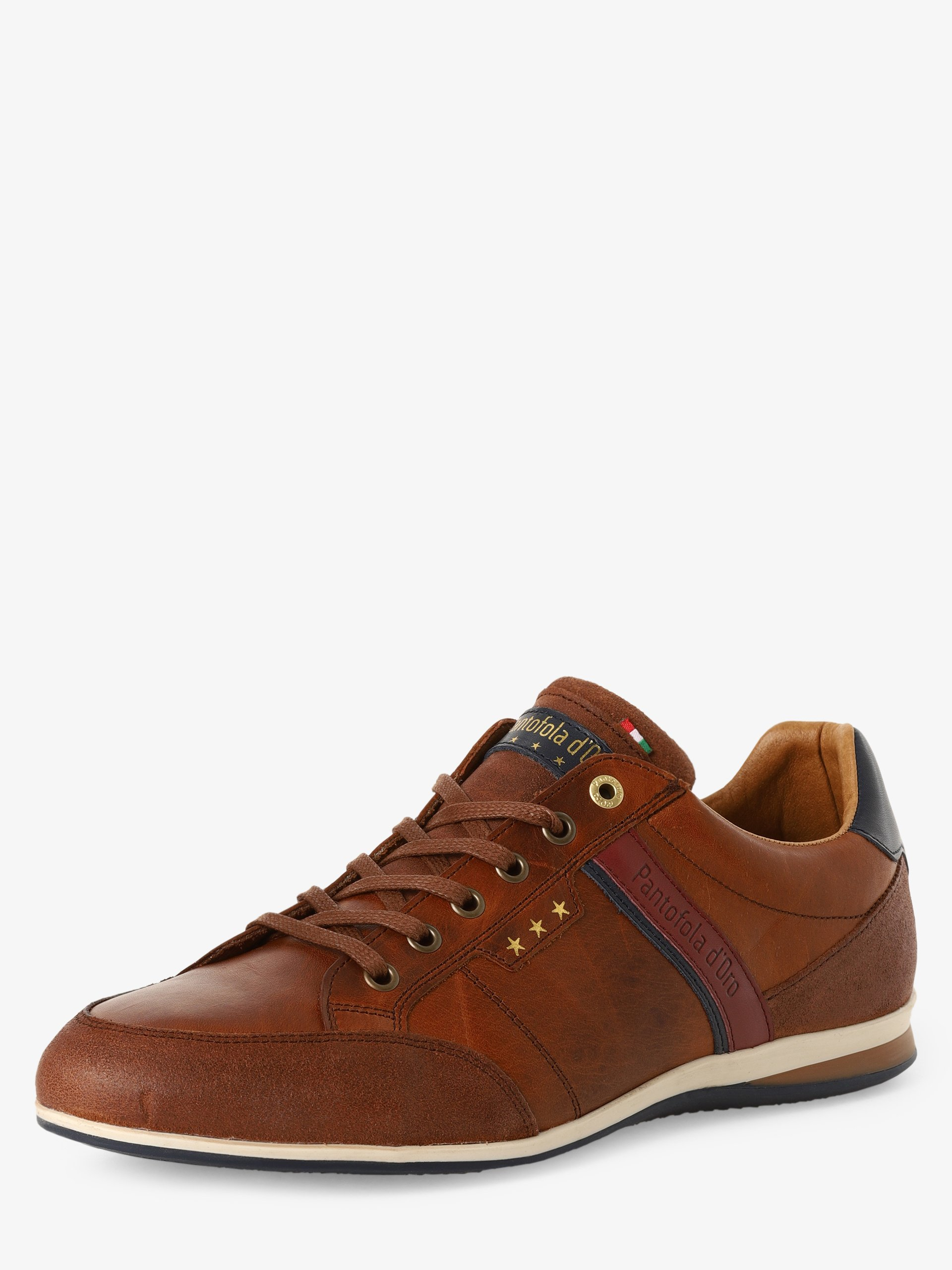 Pantofola d`Oro Męskie buty sznurowane ze skóry