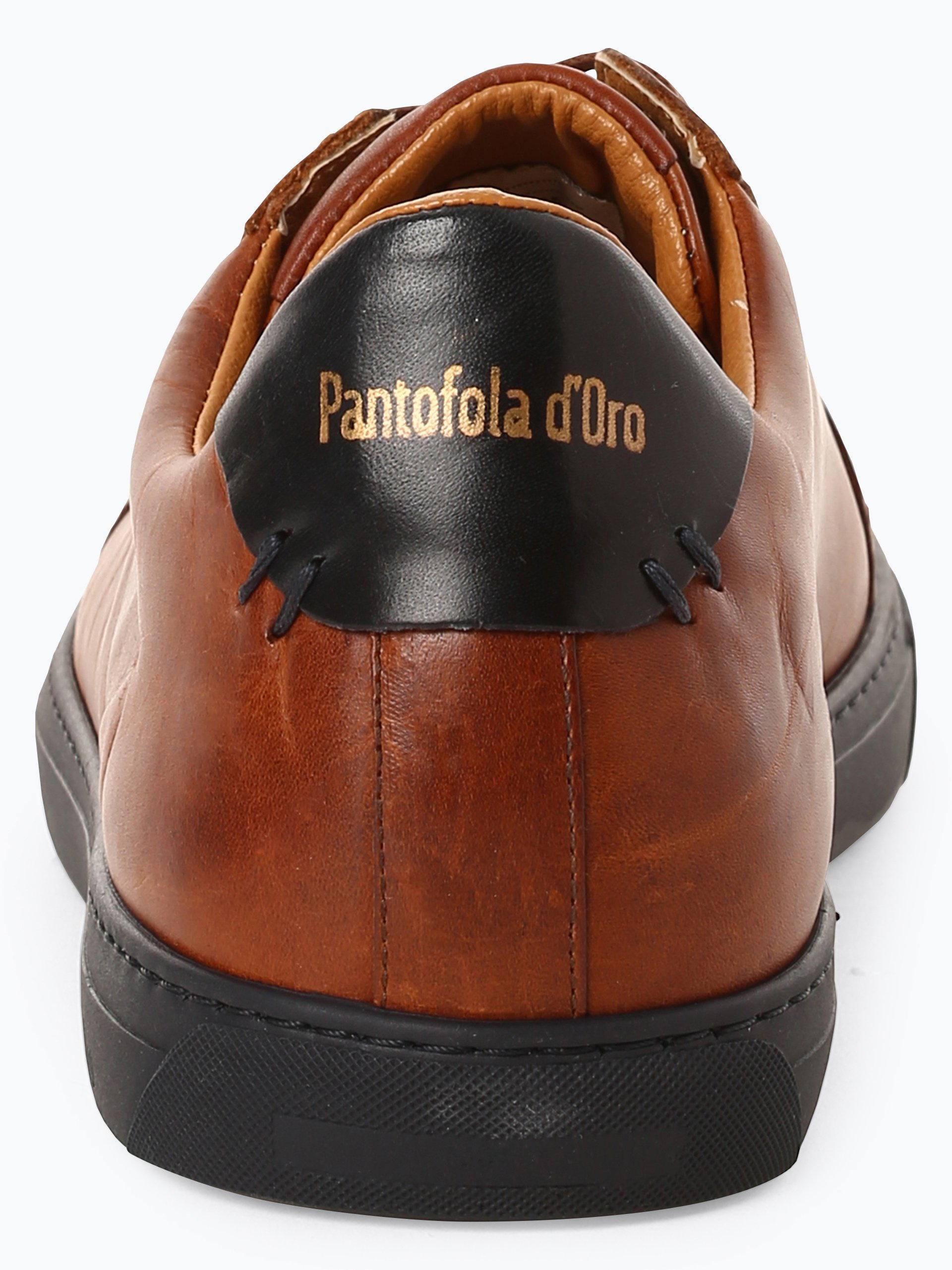 Pantofola d`Oro Męskie tenisówki ze skóry – Napoli Brogue Uomo Low