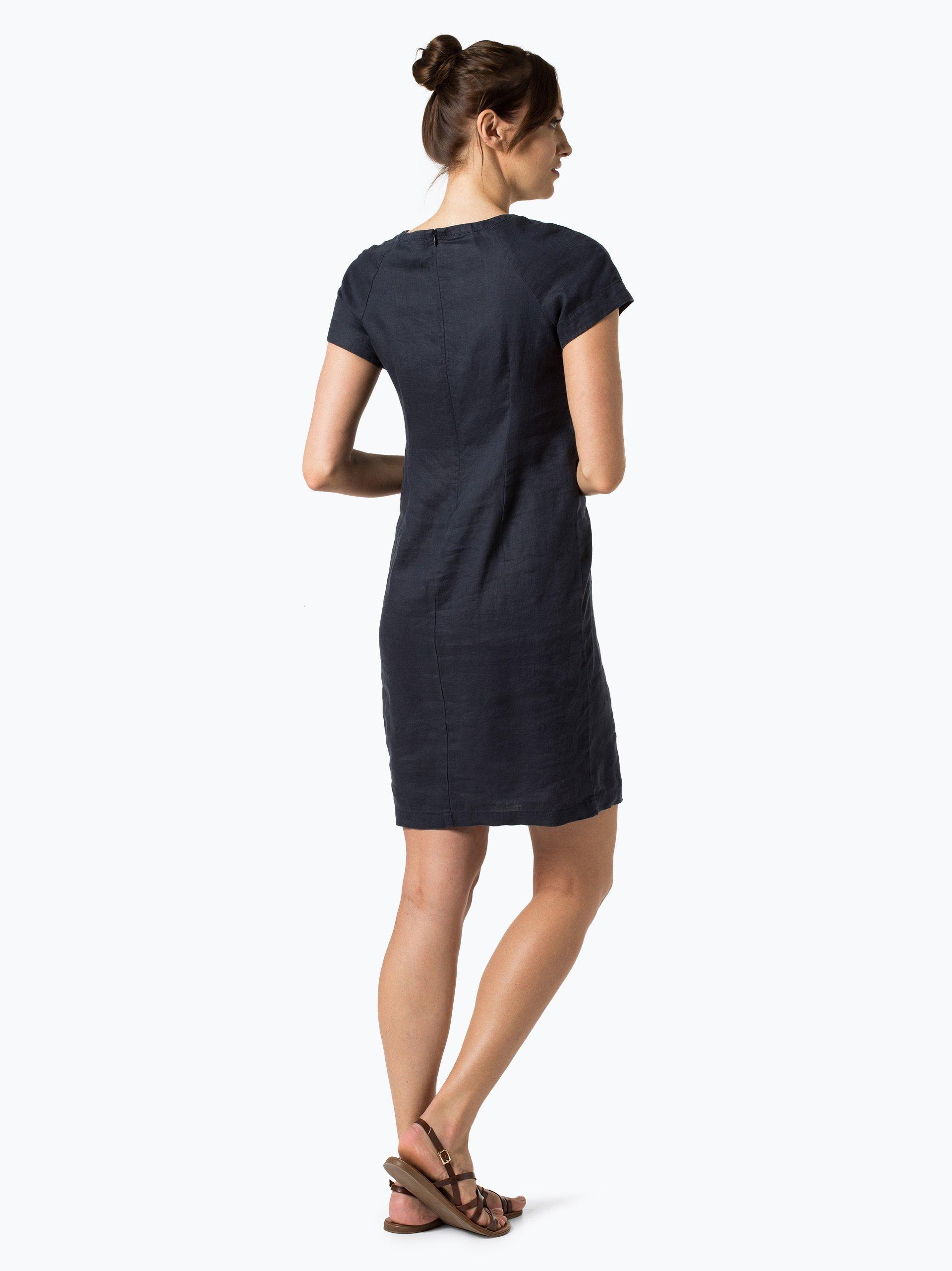 part two damen kleid aus leinen aundreas blau marine uni. Black Bedroom Furniture Sets. Home Design Ideas