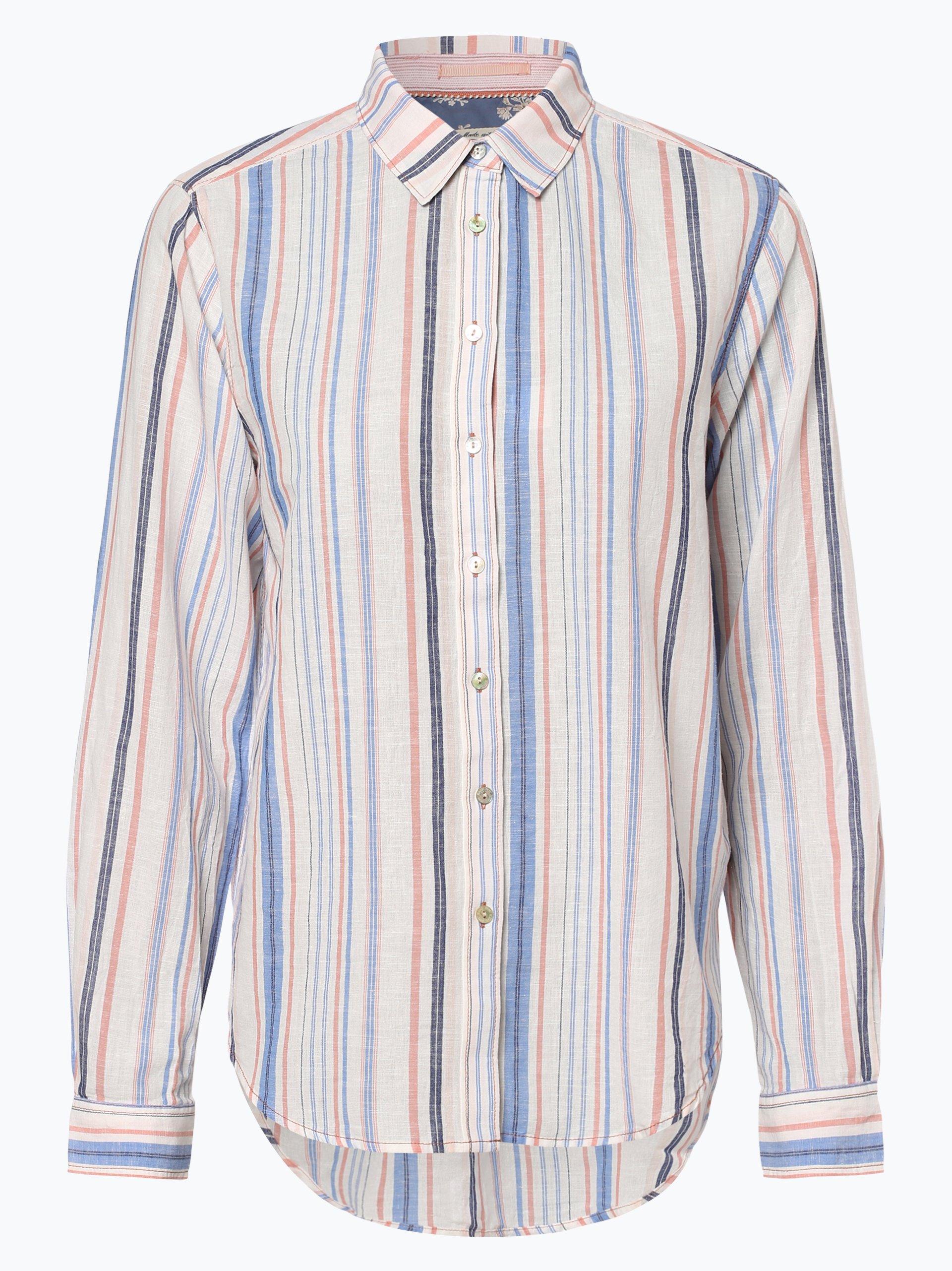 Pepe Jeans Damen Bluse mit Leinen-Anteil - Bobby