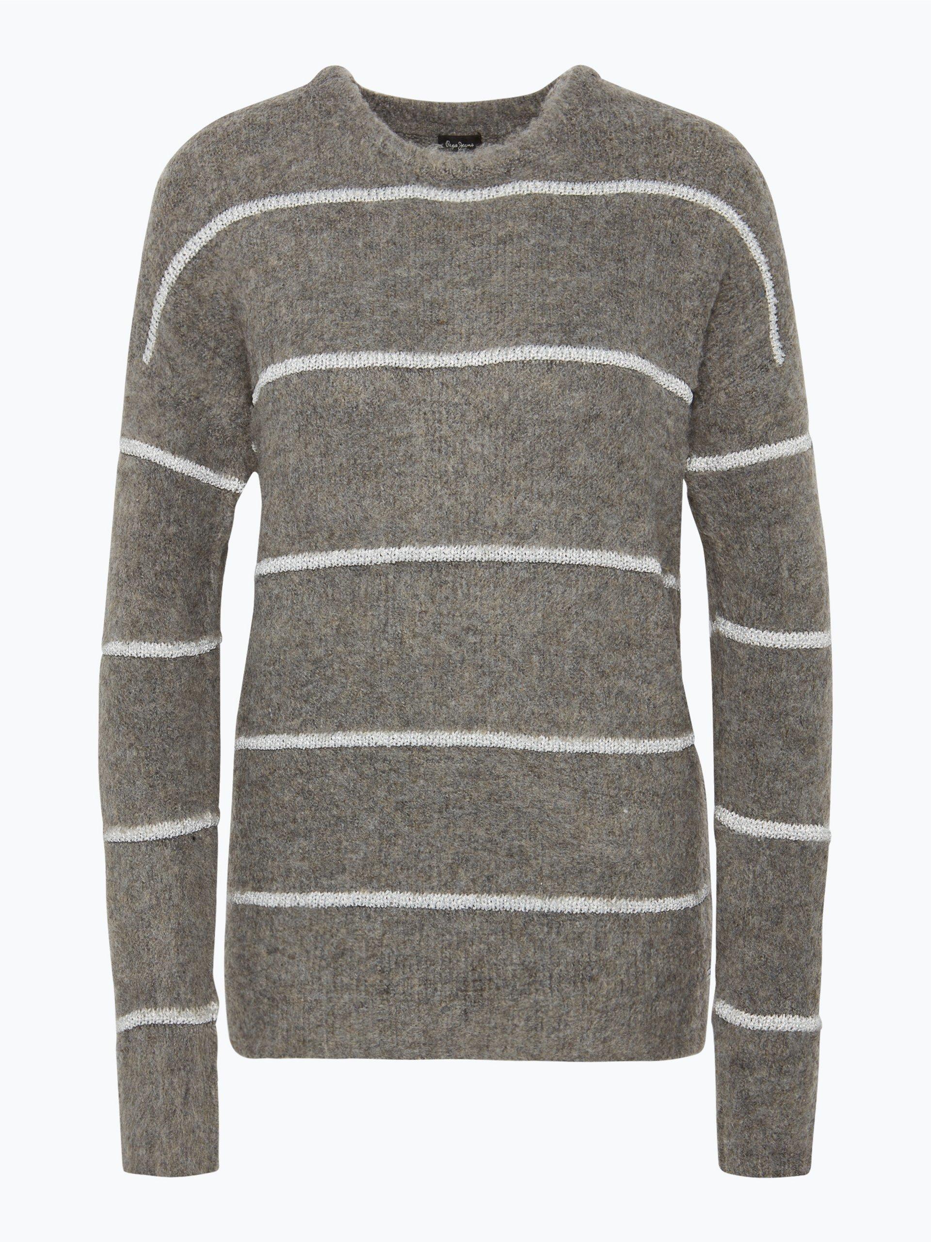 pepe jeans damen pullover grau uni online kaufen. Black Bedroom Furniture Sets. Home Design Ideas