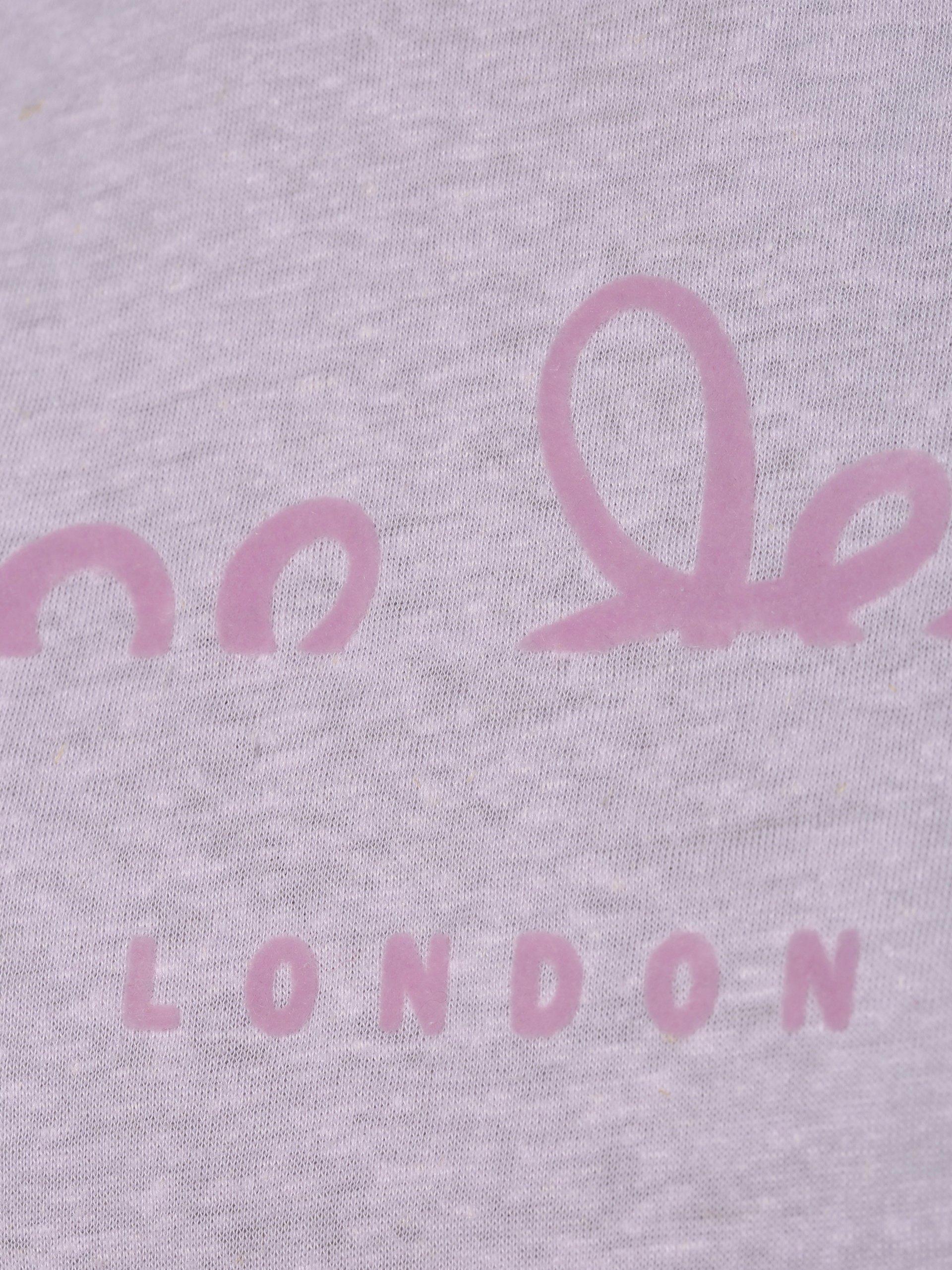 Pepe Jeans Damen T-Shirt mit Leinen-Anteil - Victoria