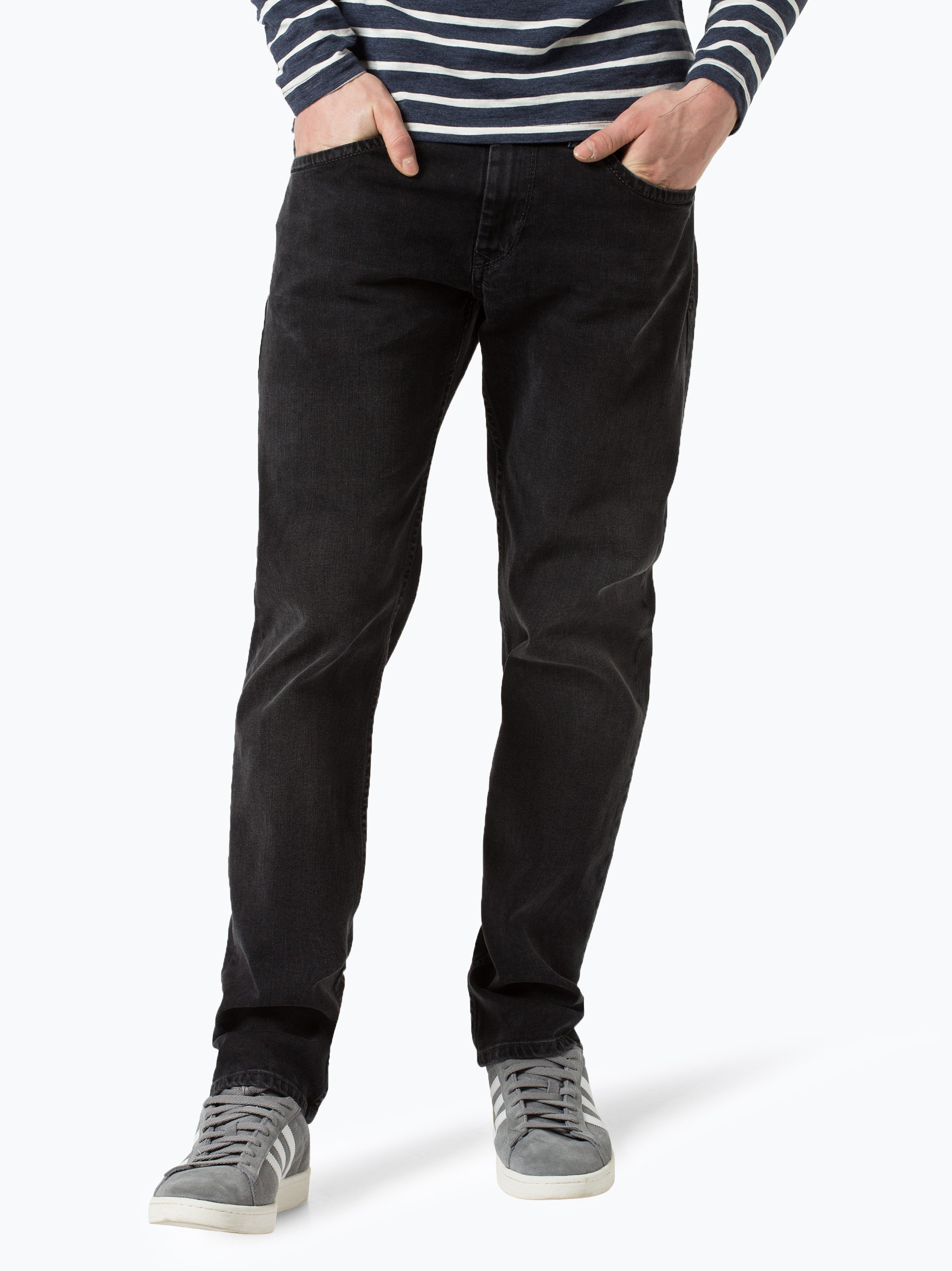 pepe jeans herren jeans kingston schwarz uni online kaufen vangraaf com. Black Bedroom Furniture Sets. Home Design Ideas
