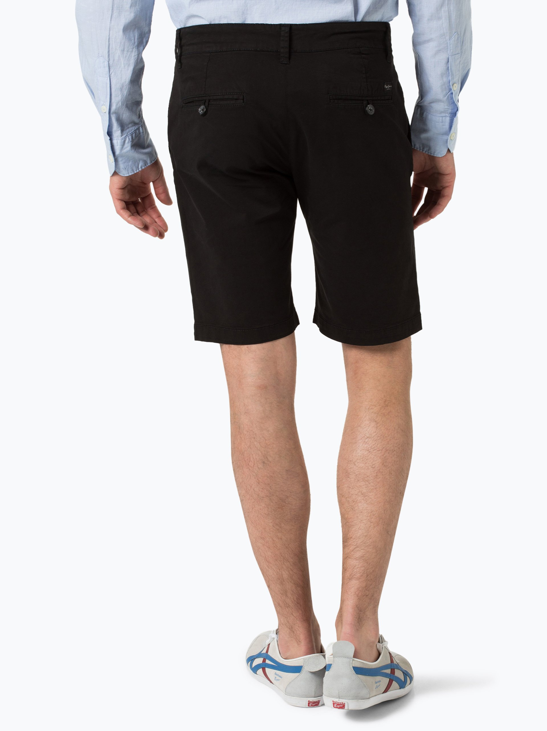 pepe jeans herren shorts mc queen schwarz uni online kaufen vangraaf com. Black Bedroom Furniture Sets. Home Design Ideas