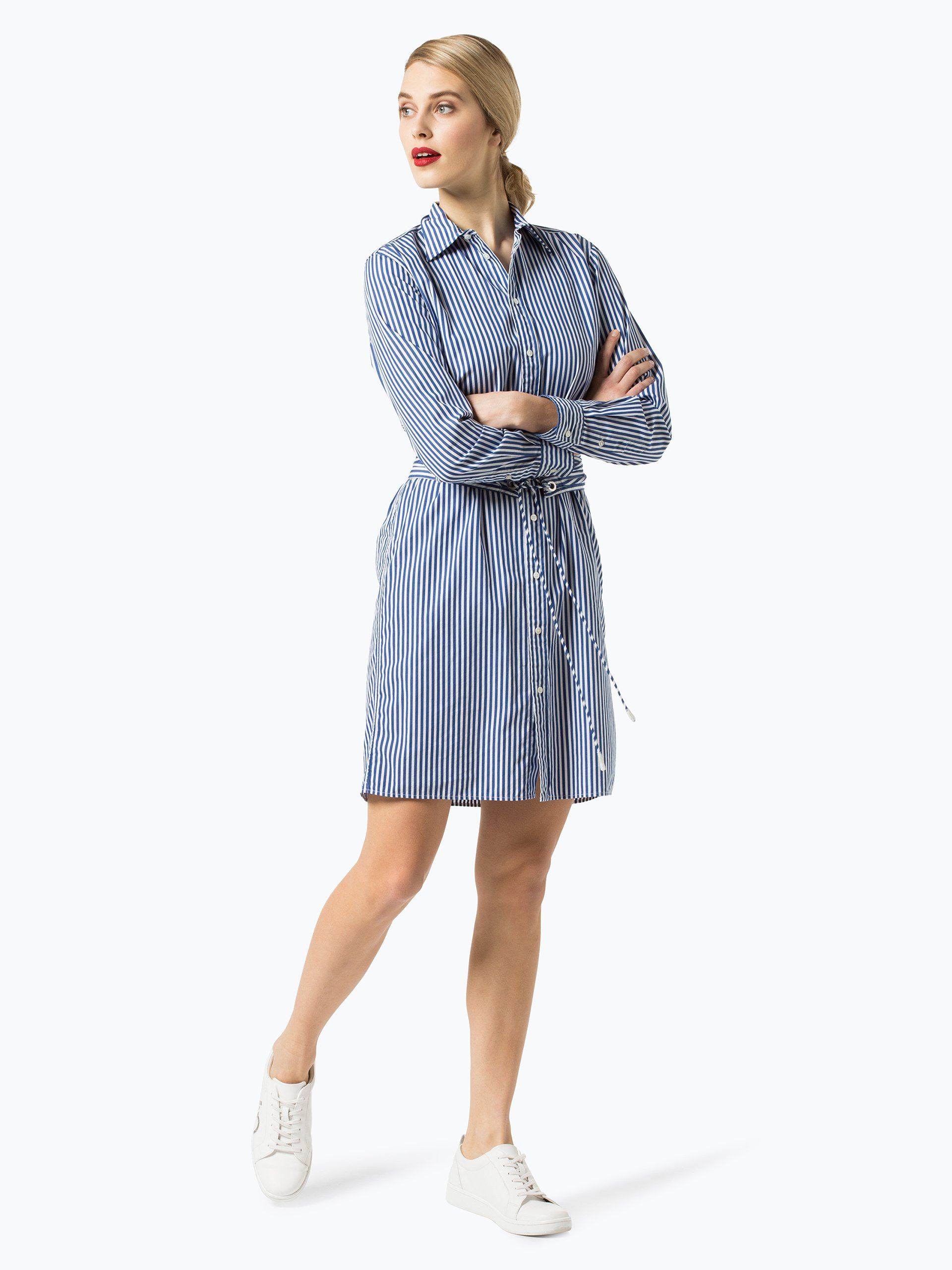polo ralph lauren damen kleid indigo gestreift online. Black Bedroom Furniture Sets. Home Design Ideas