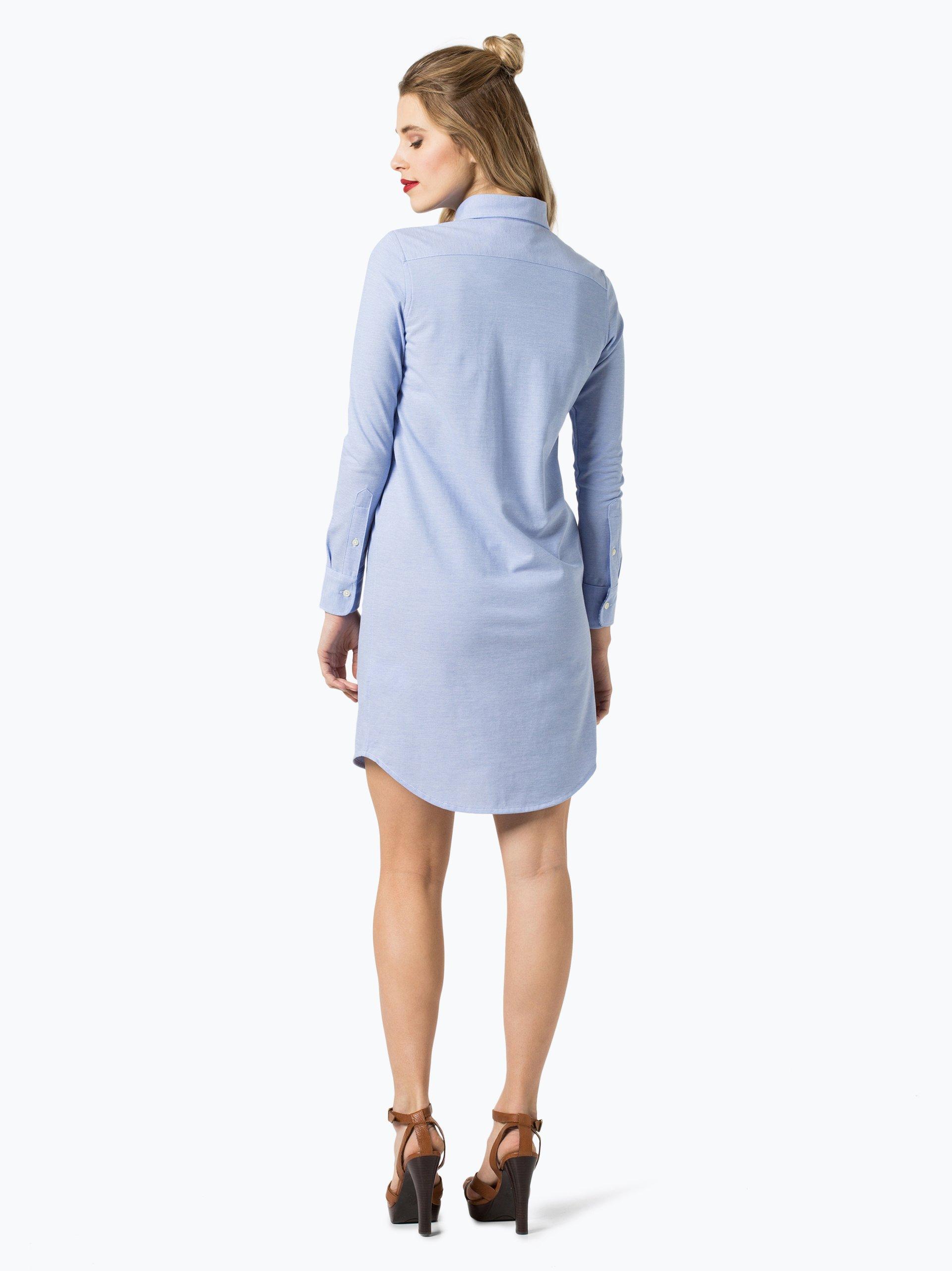 polo ralph lauren damen kleid blau uni online kaufen vangraaf com. Black Bedroom Furniture Sets. Home Design Ideas