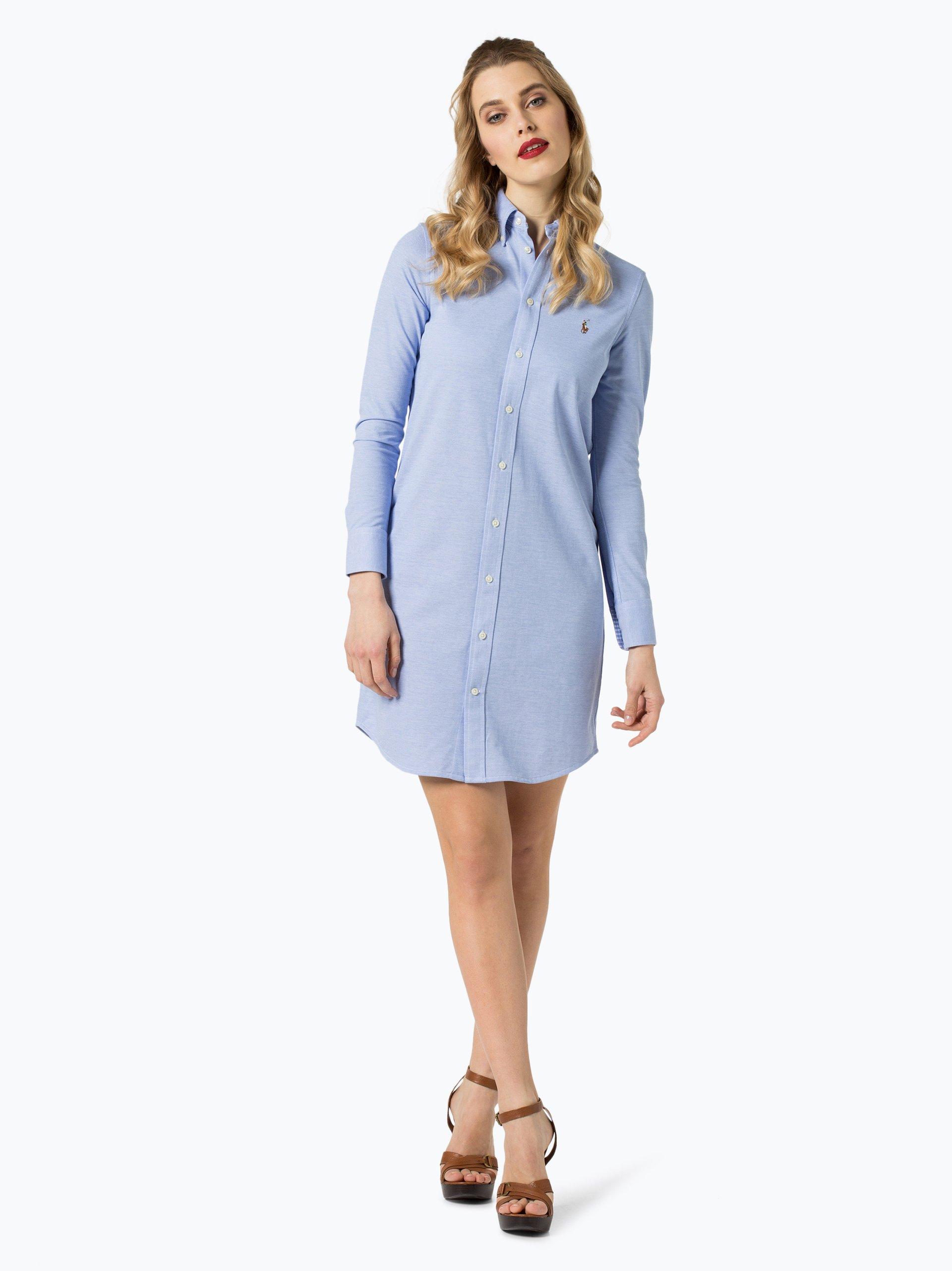 polo ralph lauren damen kleid blau uni online kaufen peek und cloppenburg de. Black Bedroom Furniture Sets. Home Design Ideas