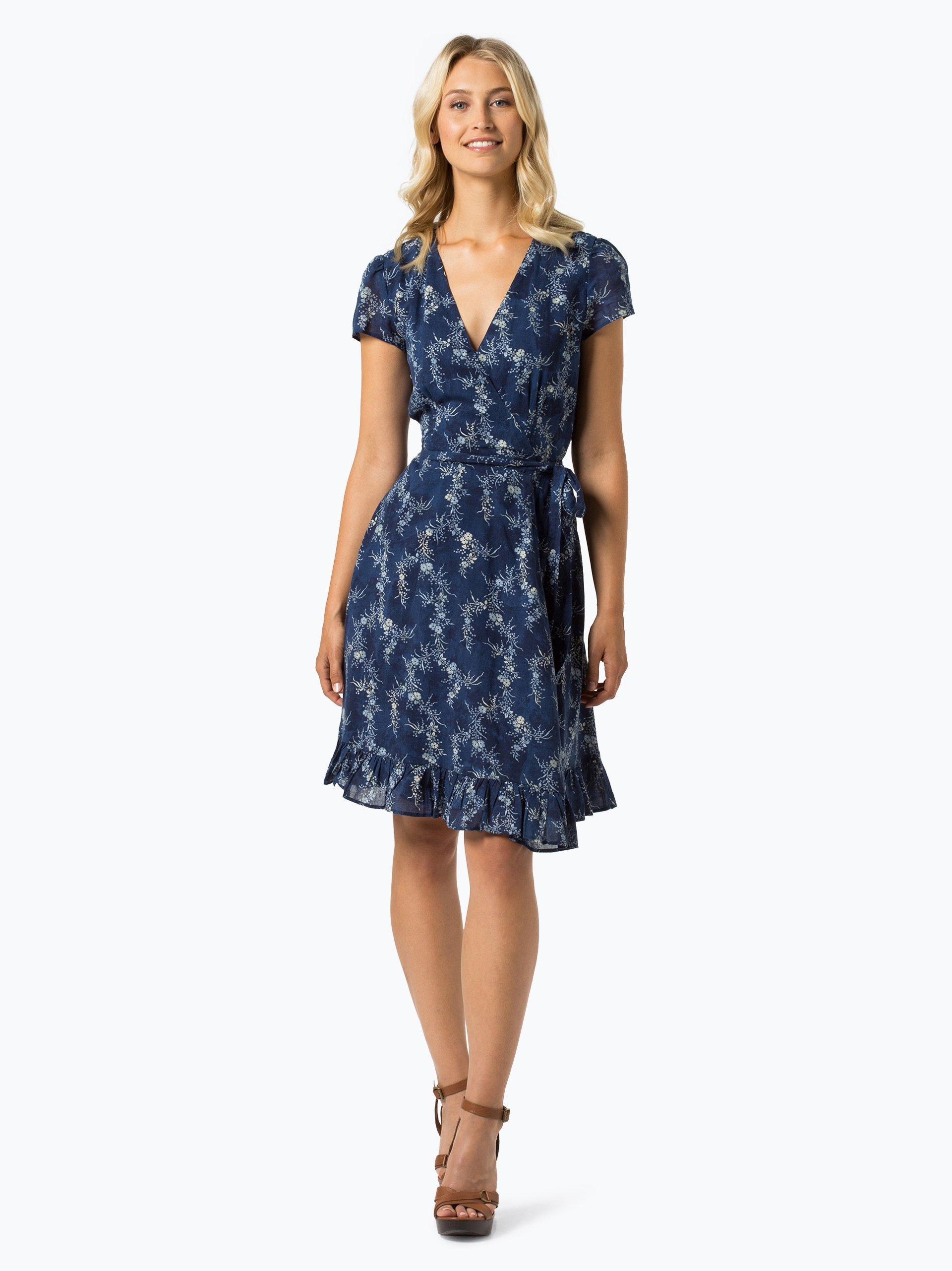 polo ralph lauren damen kleid indigo gemustert online kaufen vangraaf com. Black Bedroom Furniture Sets. Home Design Ideas