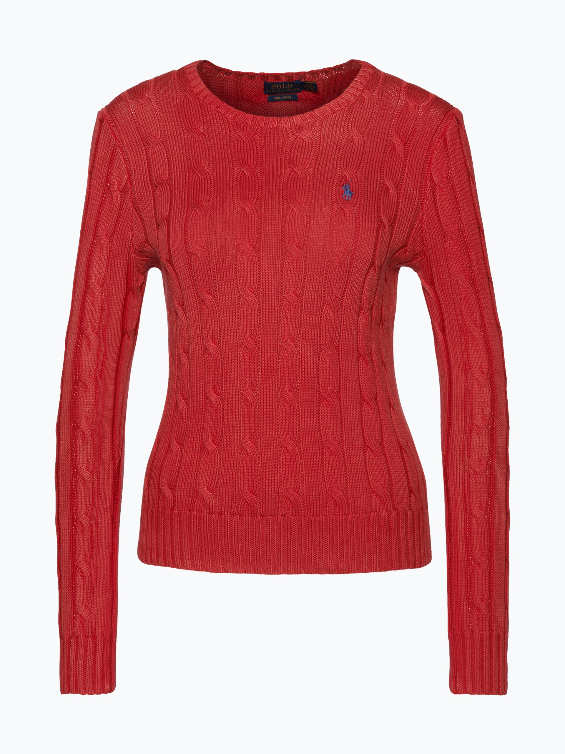 polo ralph lauren damen pullover rot uni online kaufen. Black Bedroom Furniture Sets. Home Design Ideas