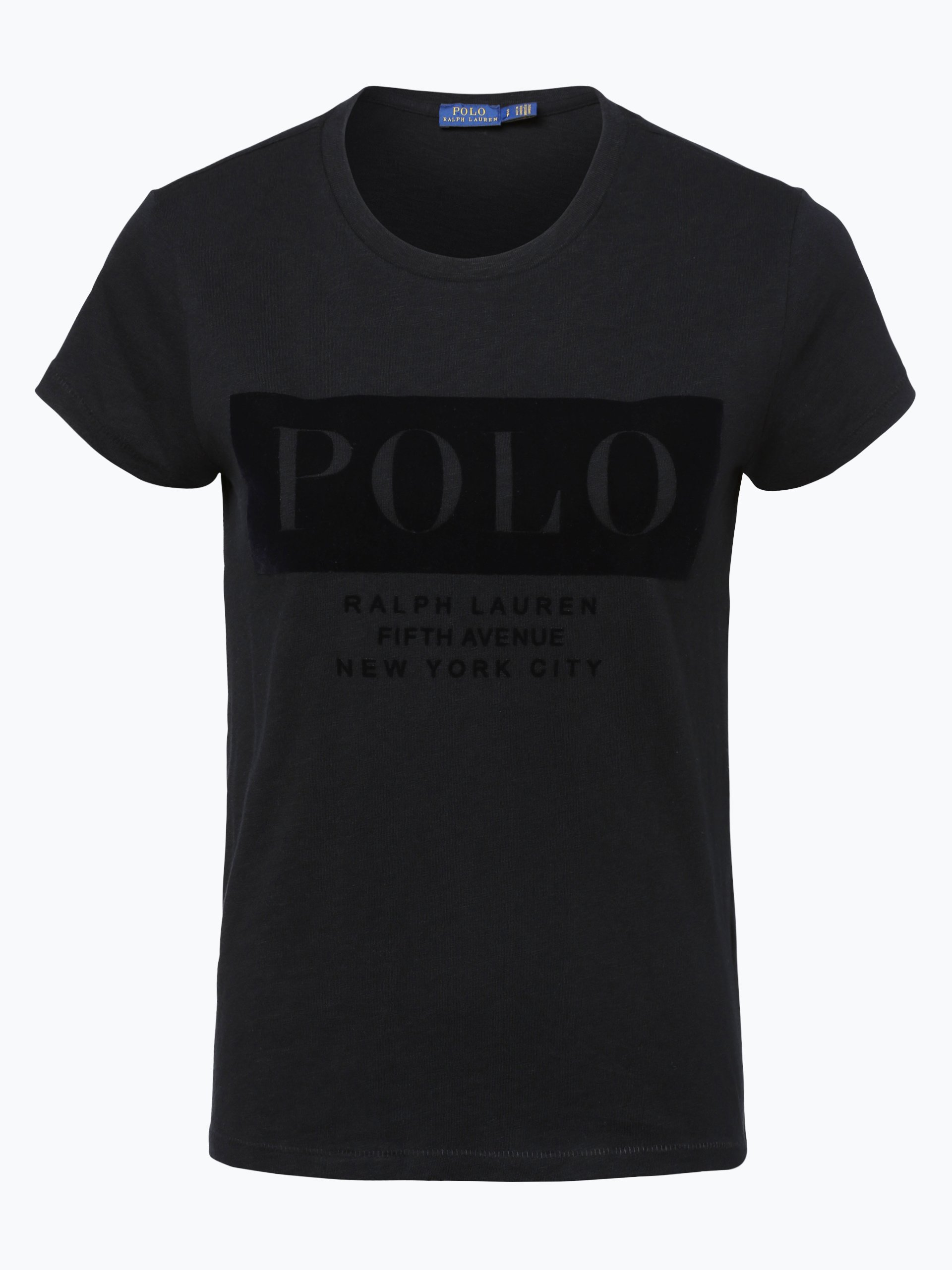 polo ralph lauren damen t shirt schwarz uni online kaufen. Black Bedroom Furniture Sets. Home Design Ideas