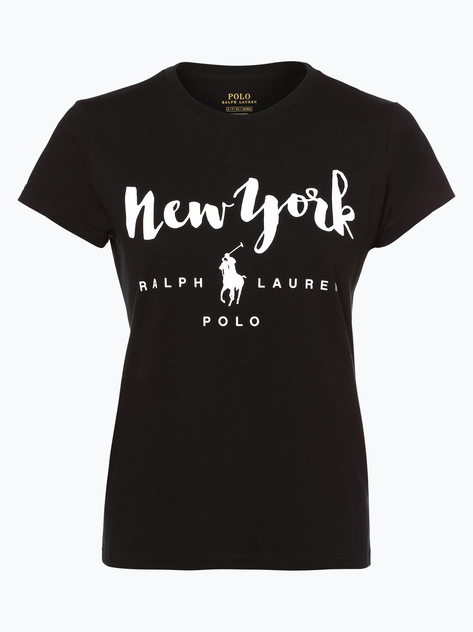 polo ralph lauren damen t shirt schwarz gemustert online kaufen vangraaf com. Black Bedroom Furniture Sets. Home Design Ideas