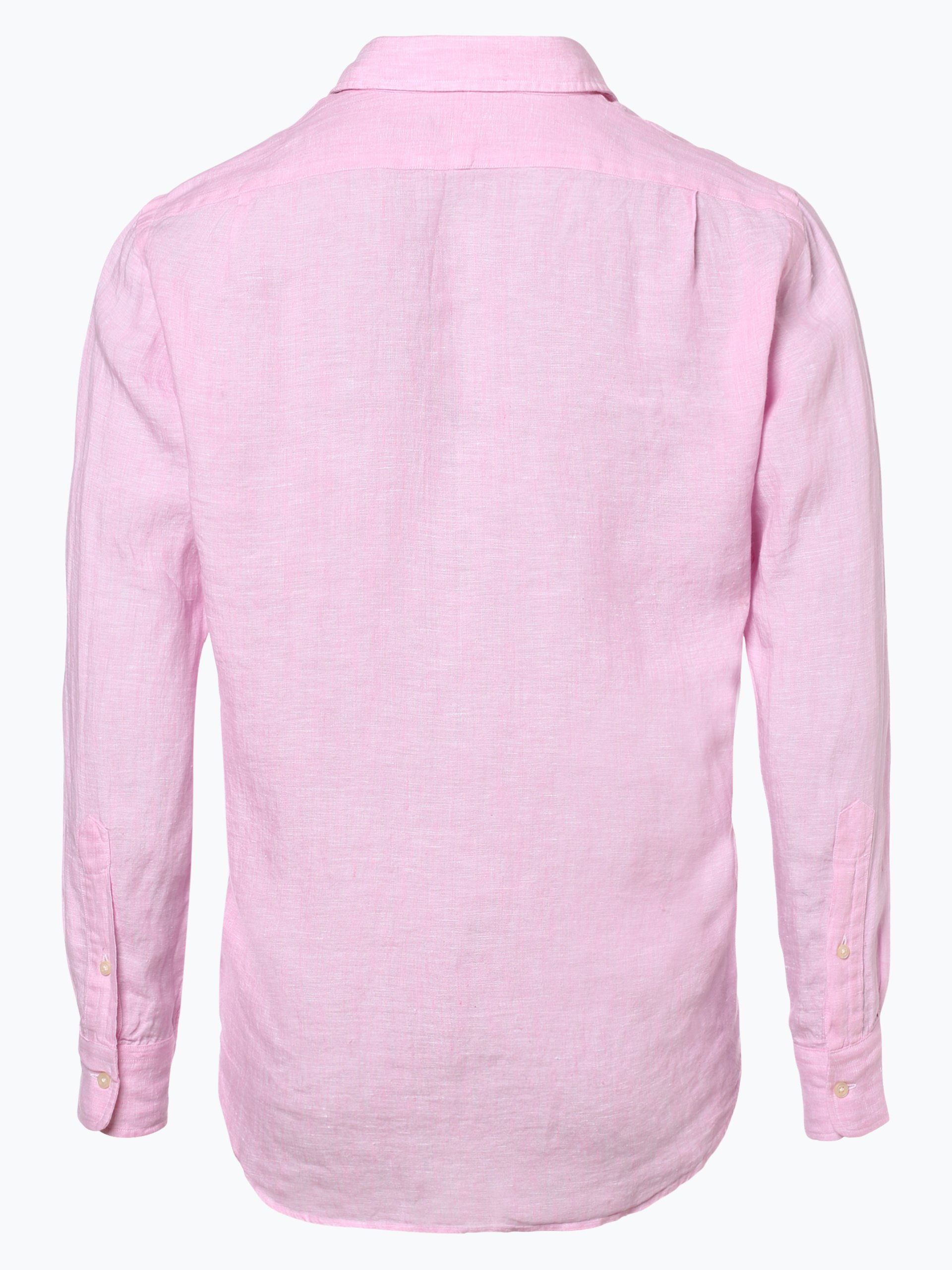 polo ralph lauren herren hemd aus leinen pink uni online. Black Bedroom Furniture Sets. Home Design Ideas