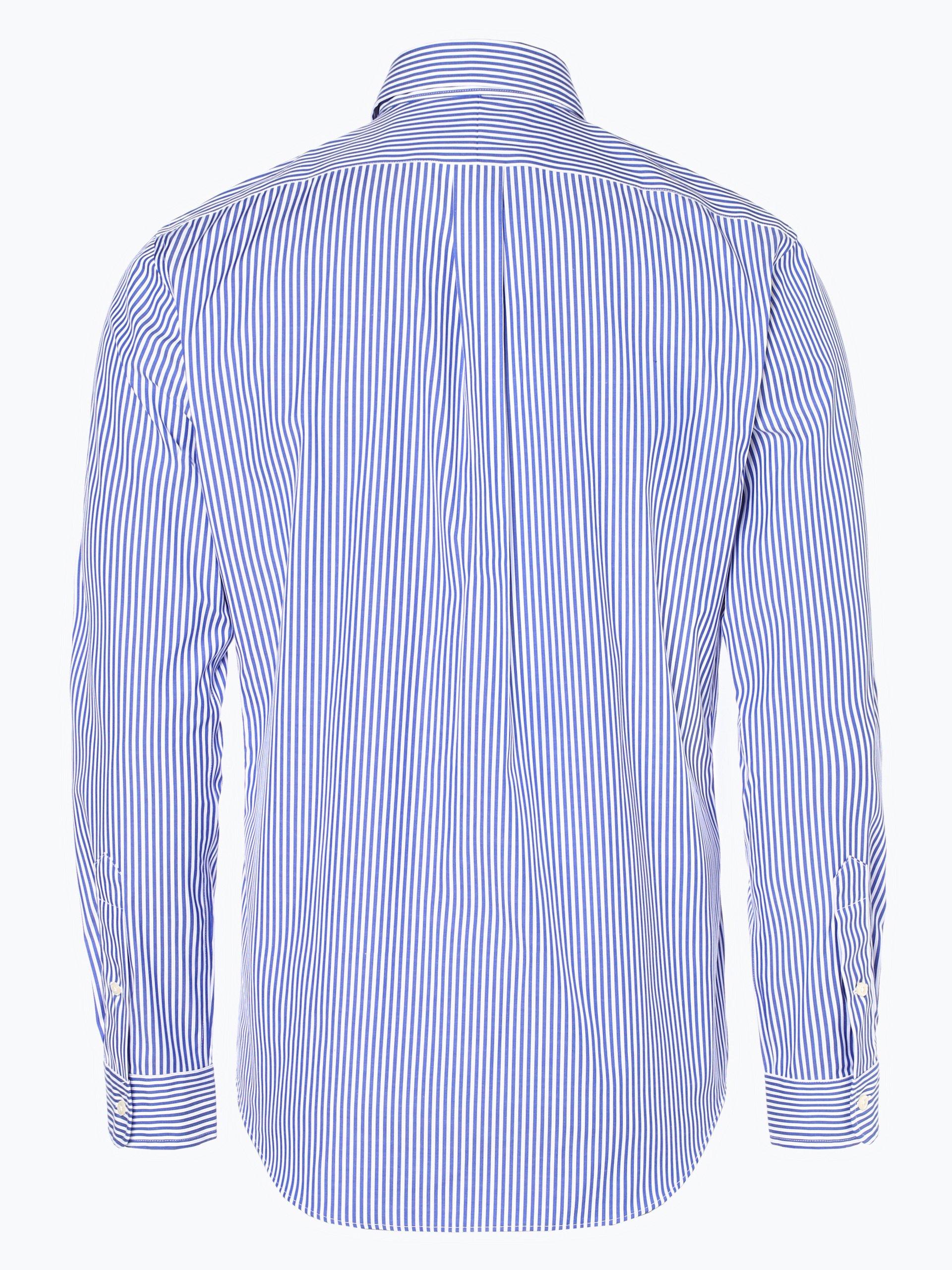 polo ralph lauren herren hemd b gelleicht blau gestreift online kaufen vangraaf com. Black Bedroom Furniture Sets. Home Design Ideas