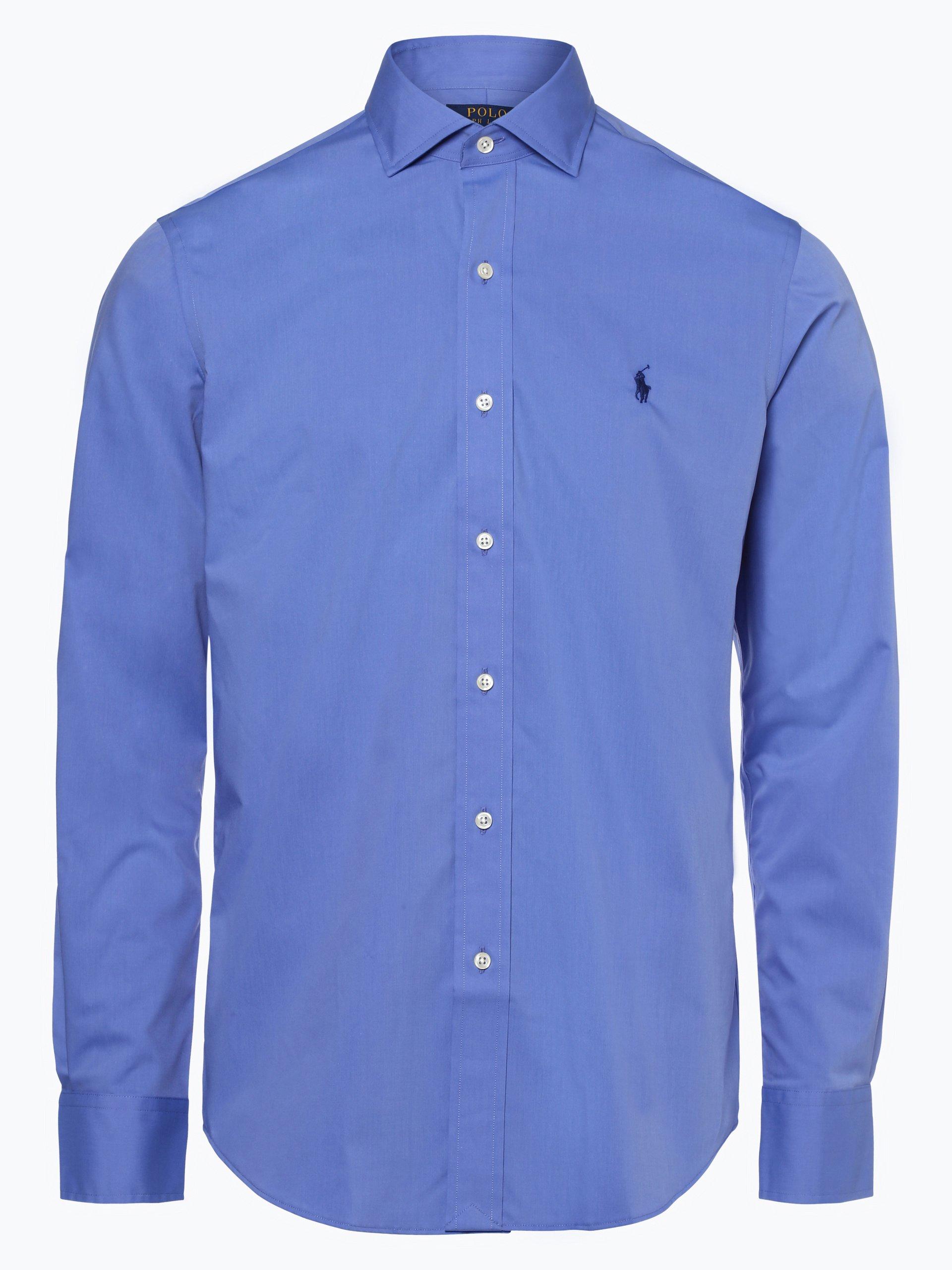 polo ralph lauren herren hemd b gelleicht blau uni online kaufen vangraaf com. Black Bedroom Furniture Sets. Home Design Ideas