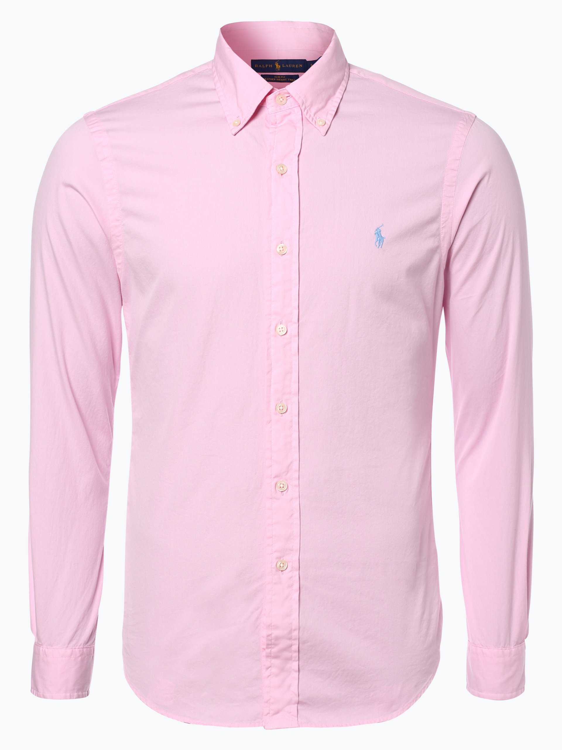 polo ralph lauren herren hemd slim fit pink uni online. Black Bedroom Furniture Sets. Home Design Ideas