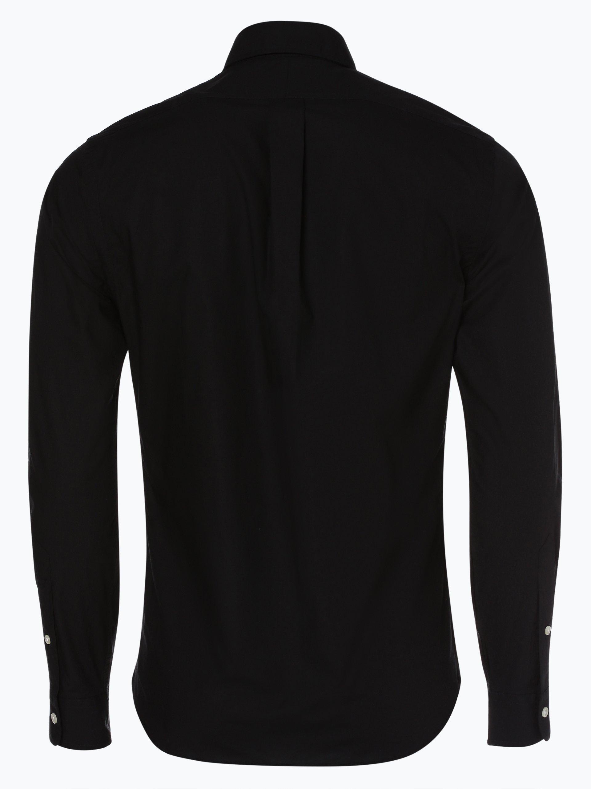 polo ralph lauren herren hemd slim fit schwarz uni online kaufen vangraaf com. Black Bedroom Furniture Sets. Home Design Ideas