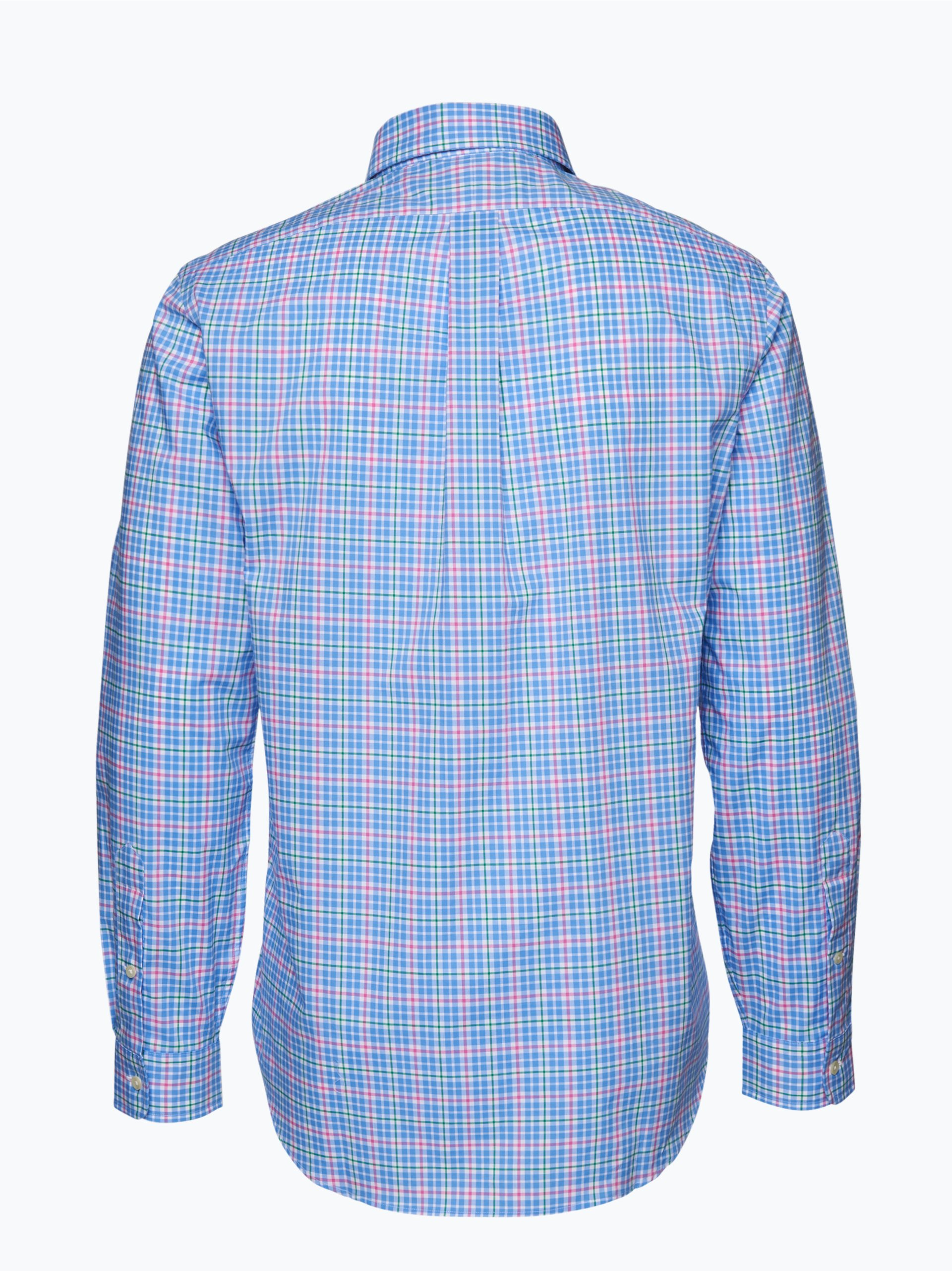polo ralph lauren herren hemd blau pink kariert online kaufen vangraaf com. Black Bedroom Furniture Sets. Home Design Ideas