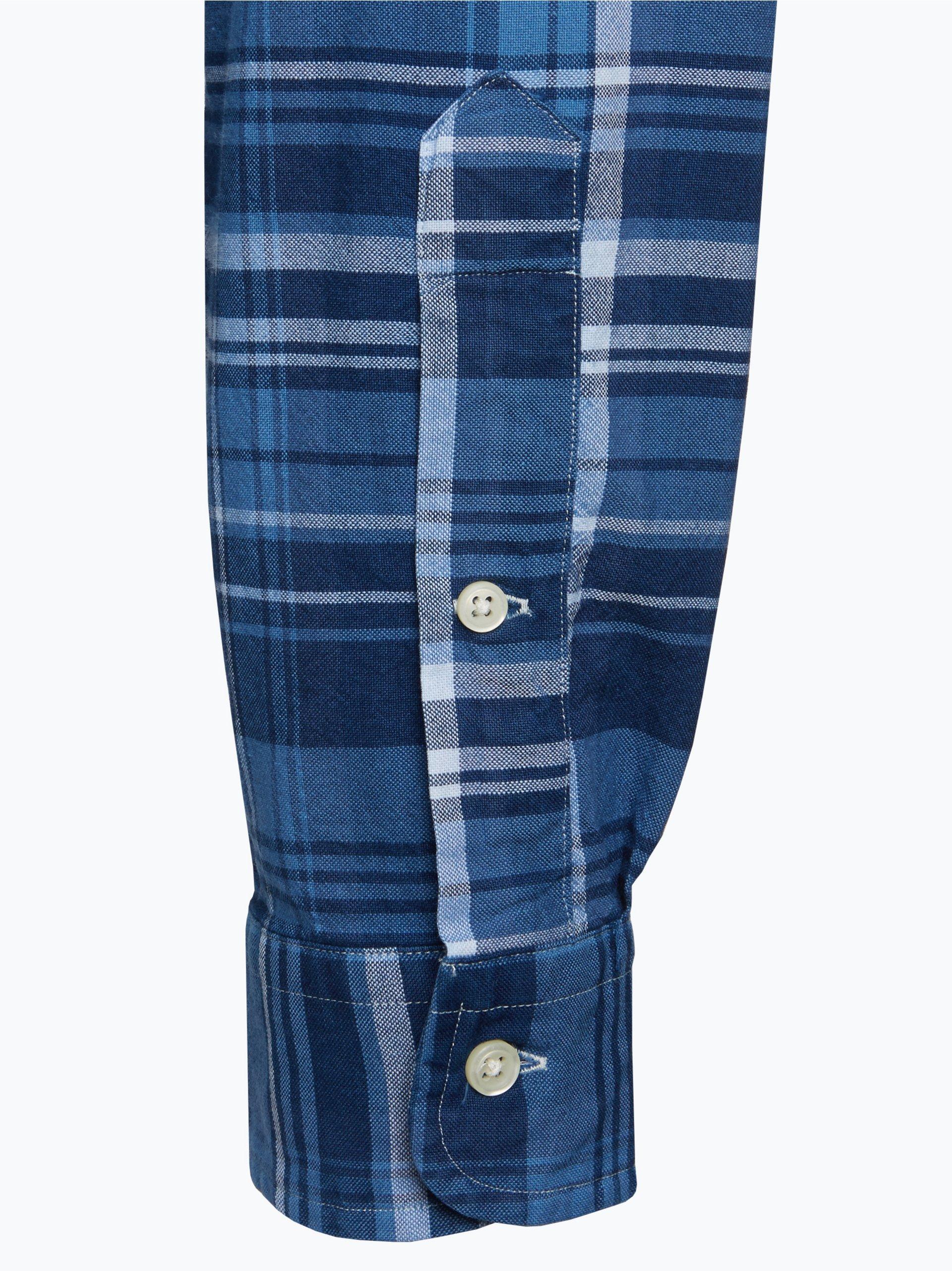 polo ralph lauren herren hemd indigo kariert online kaufen vangraaf com. Black Bedroom Furniture Sets. Home Design Ideas
