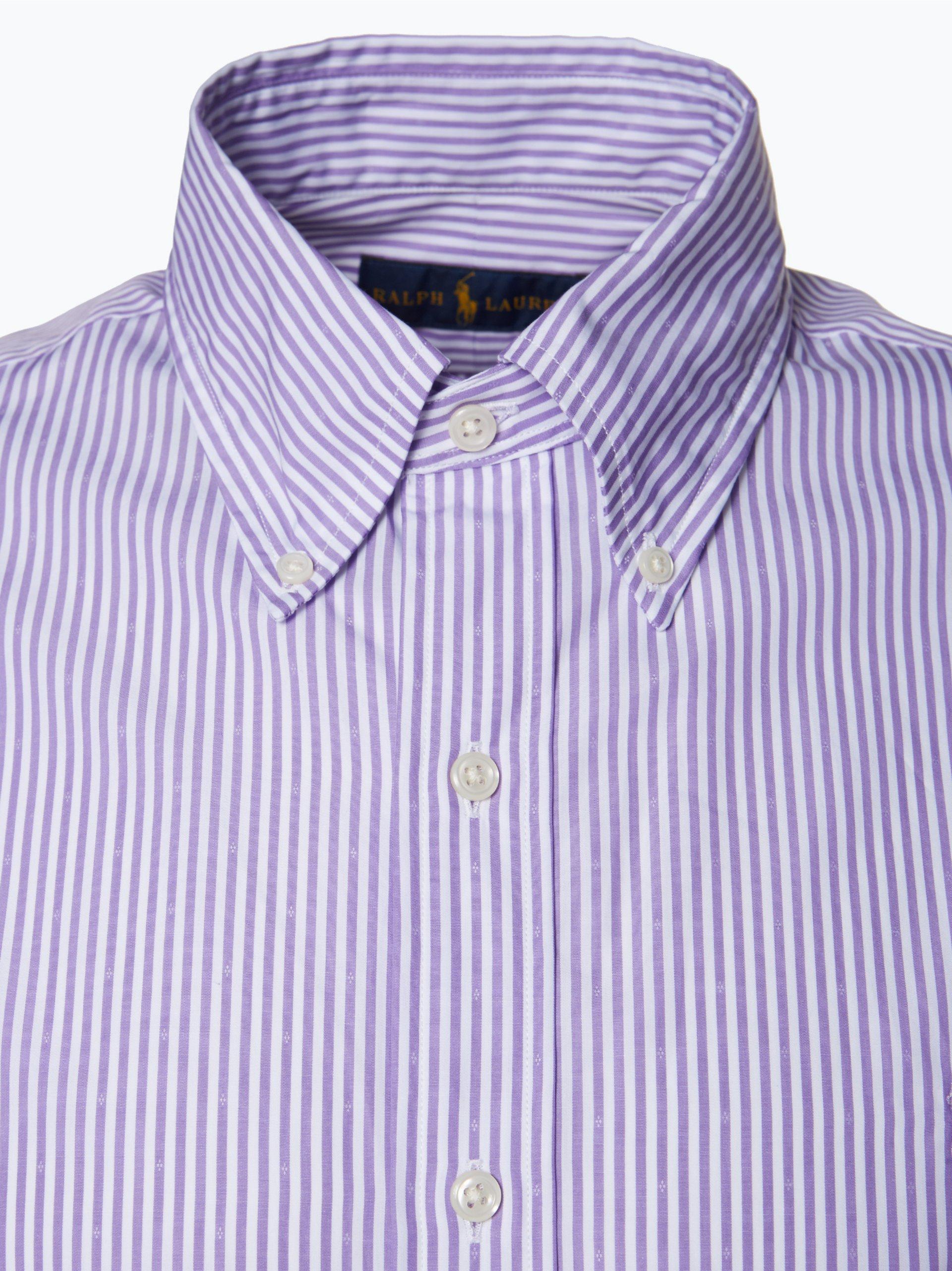 polo ralph lauren herren hemd purple gestreift online kaufen vangraaf com. Black Bedroom Furniture Sets. Home Design Ideas