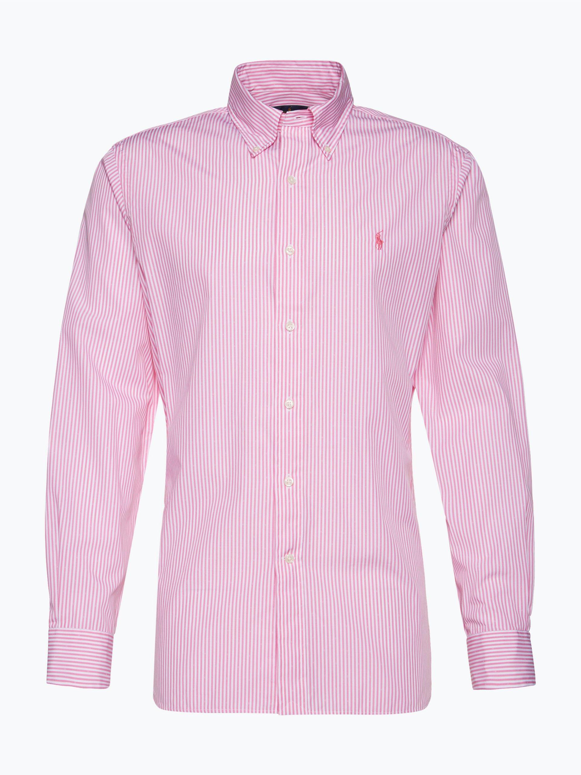 polo ralph lauren herren hemd pink gestreift online kaufen vangraaf com. Black Bedroom Furniture Sets. Home Design Ideas