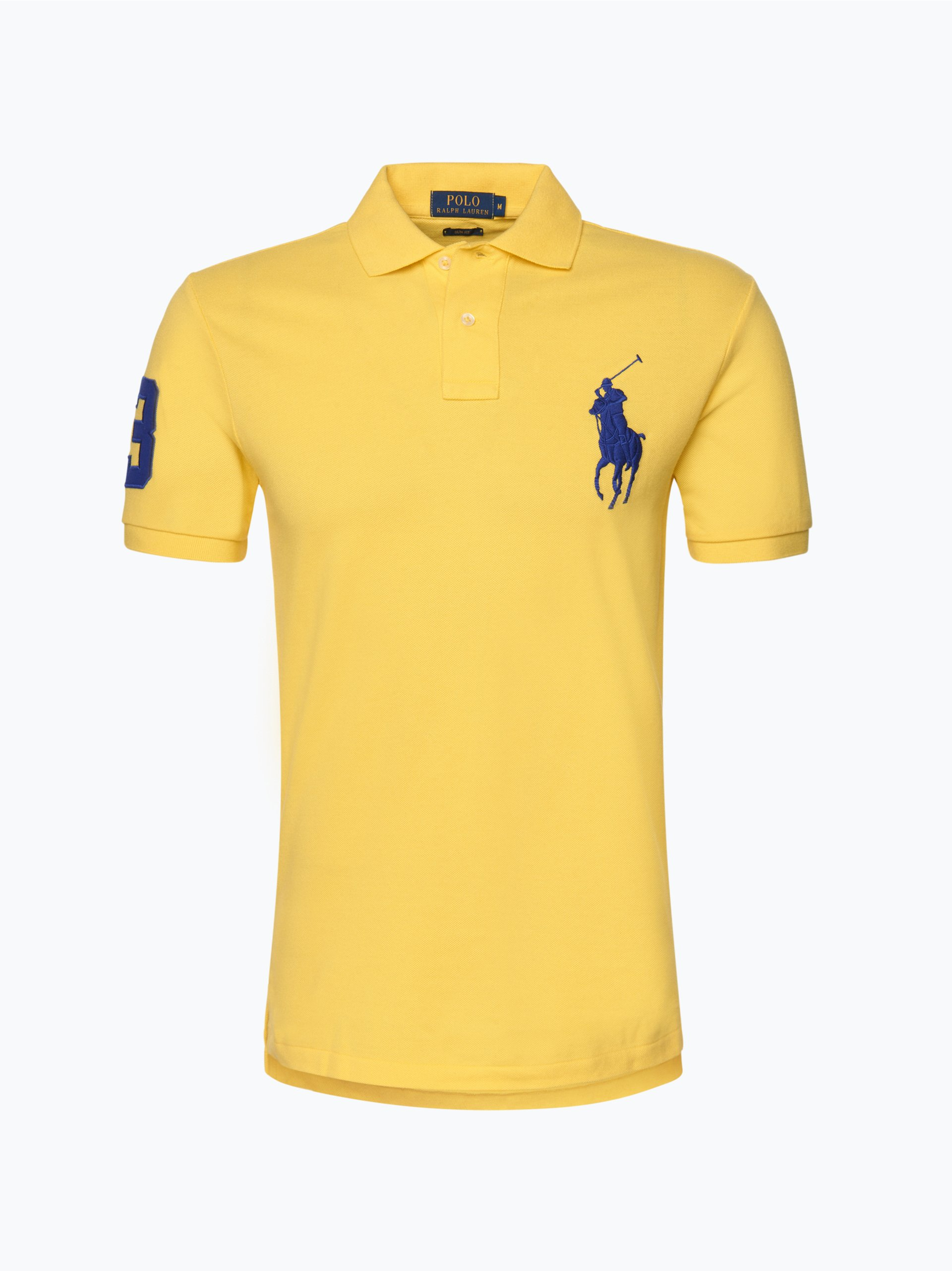 polo ralph lauren herren poloshirt gelb uni online kaufen. Black Bedroom Furniture Sets. Home Design Ideas