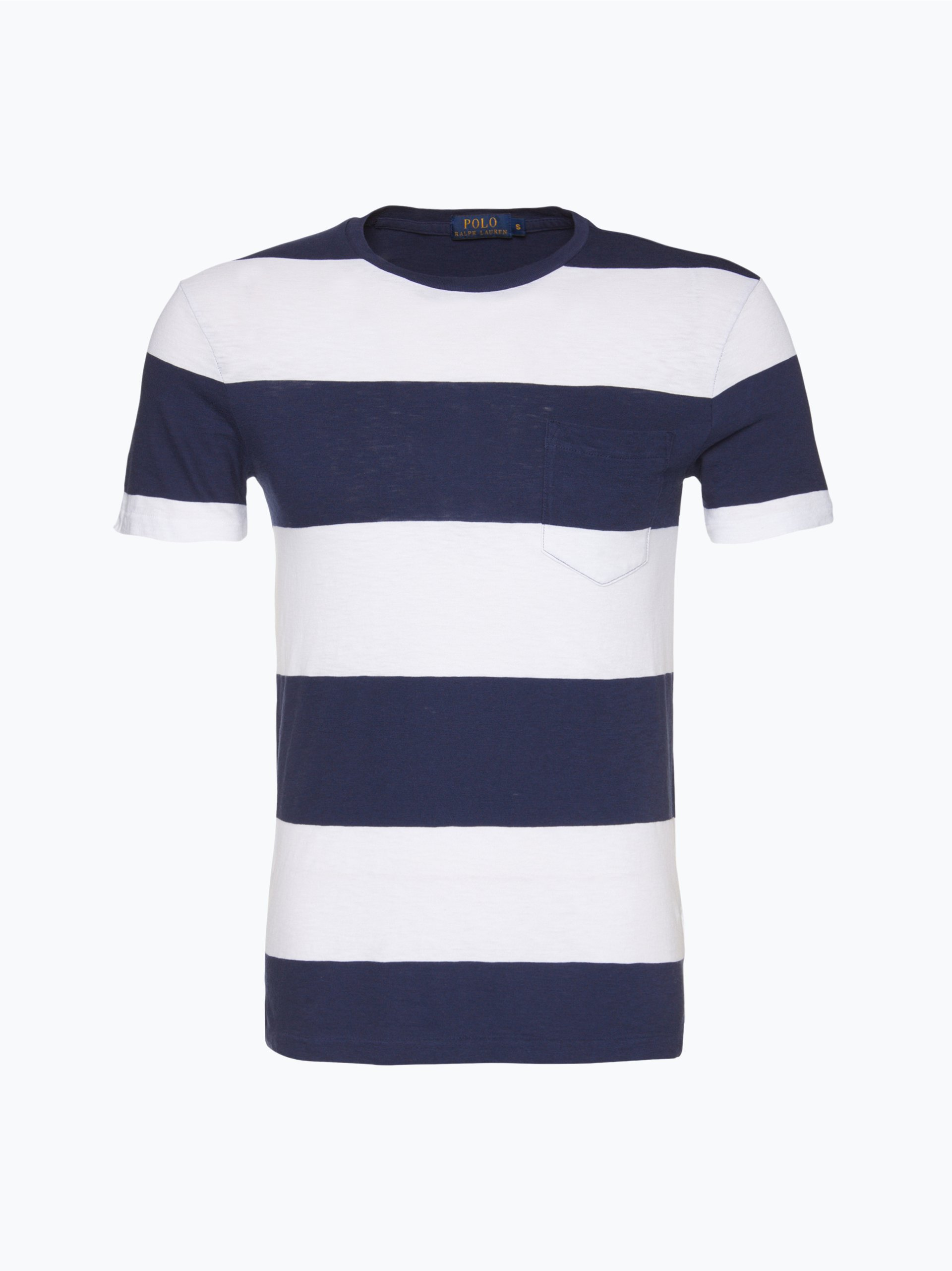 polo ralph lauren herren t shirt marine gestreift online kaufen vangraaf com. Black Bedroom Furniture Sets. Home Design Ideas
